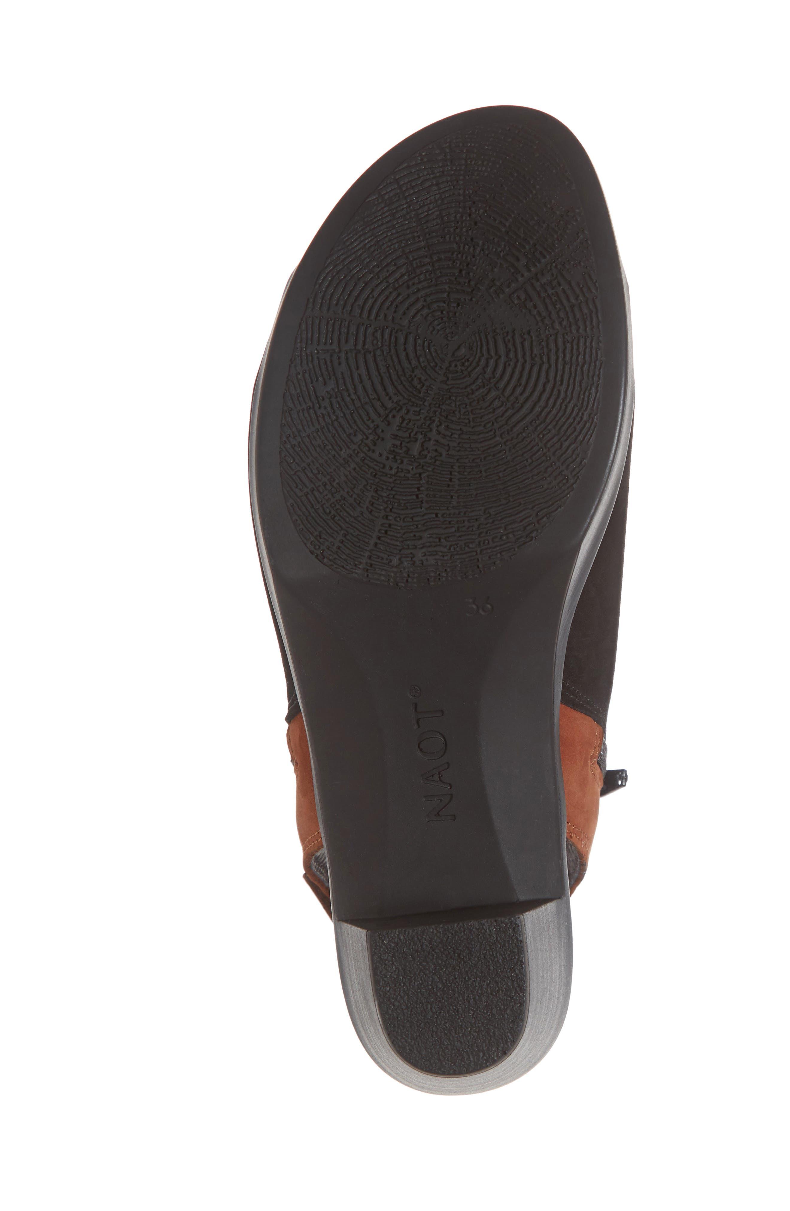NAOT, Favorite Sandal, Alternate thumbnail 6, color, BLACK/ HAWAIIAN BROWN NUBUCK