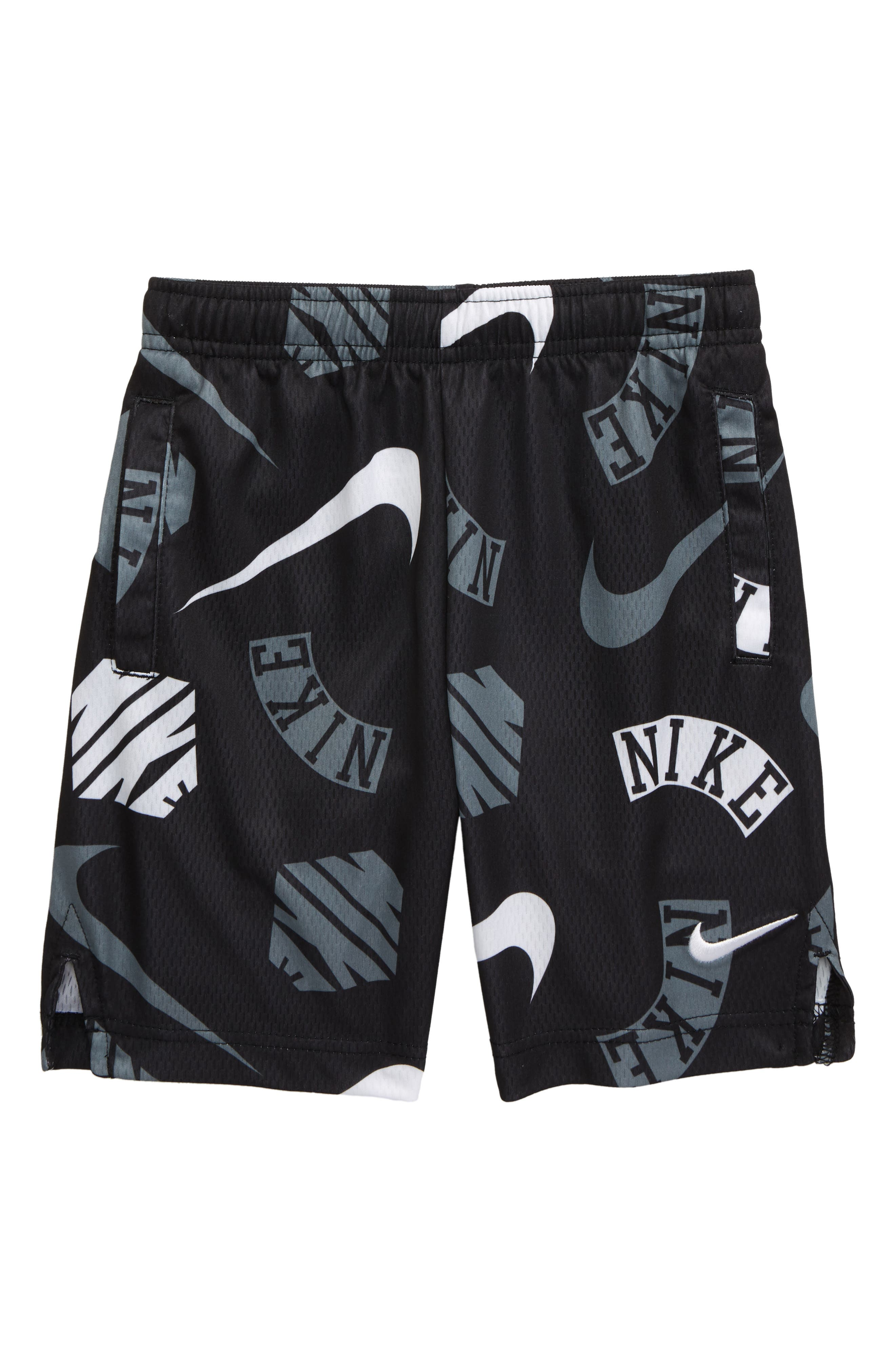 Boys Nike Dry Print Athletic Shorts