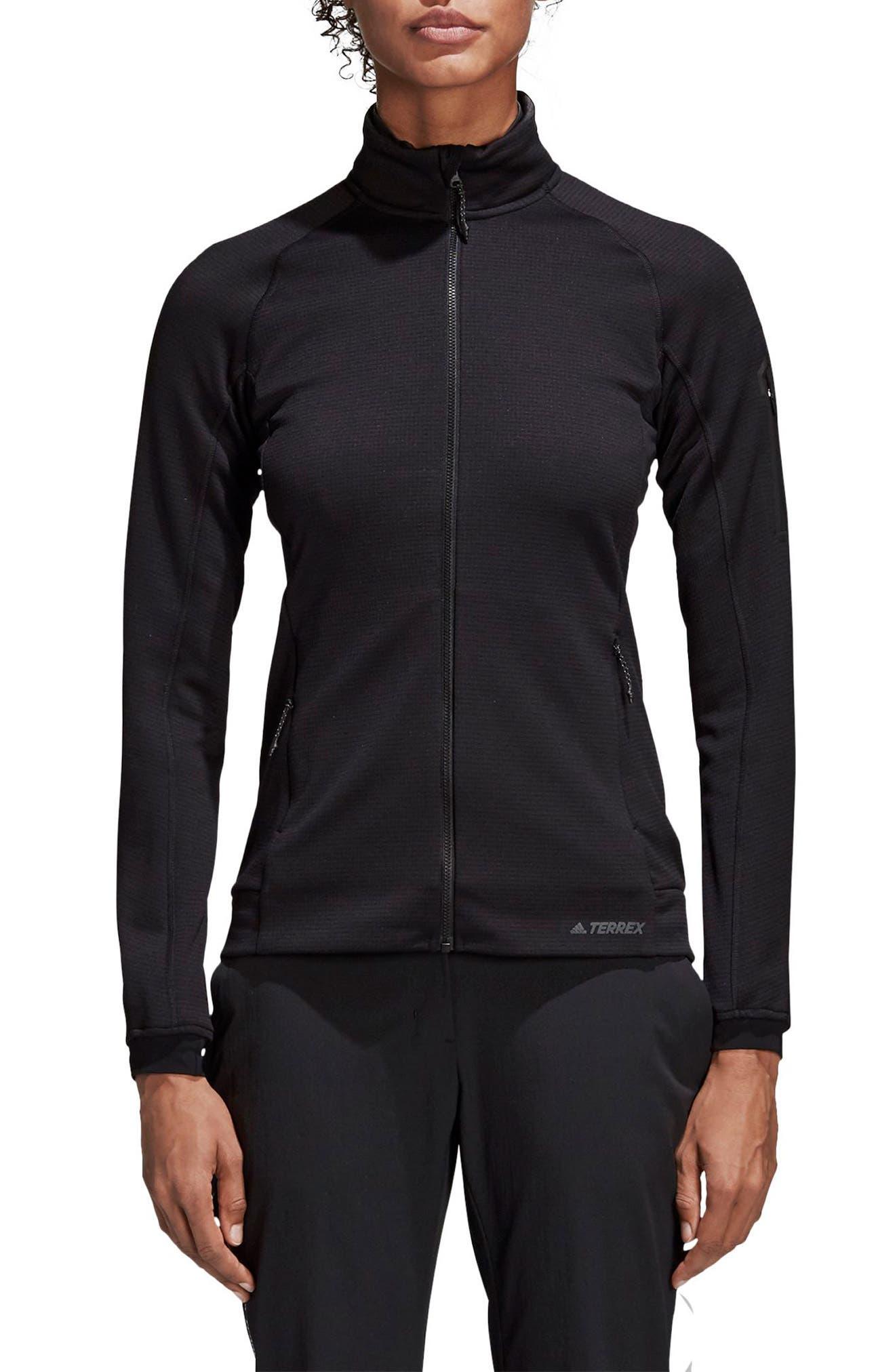 ADIDAS, Stockhorn Fleece Jacket, Main thumbnail 1, color, BLACK