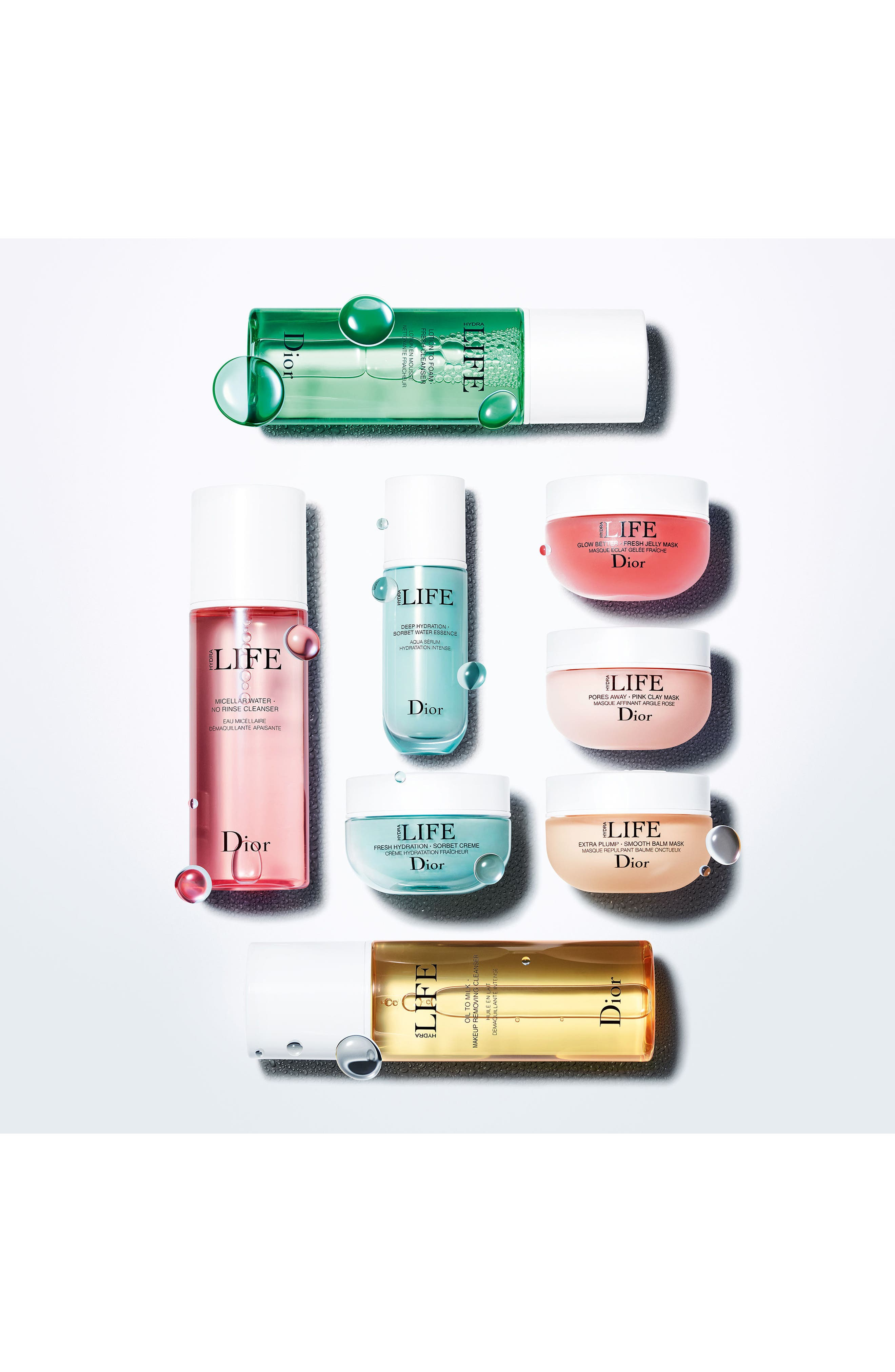 DIOR, Hydra Life Micellar Water No Rinse Cleanser, Alternate thumbnail 3, color, NO COLOR