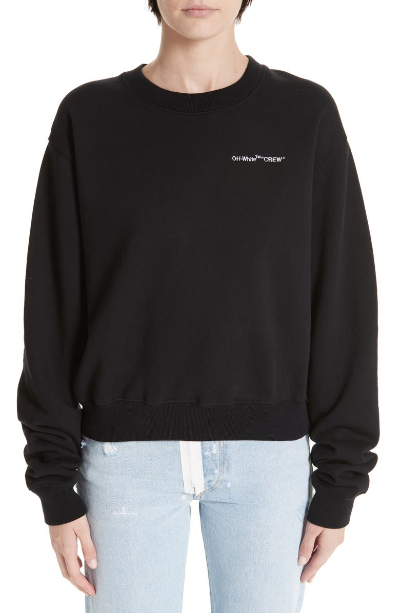 0882298de3d1 Off-White Quotes Casual Crewneck Sweatshirt
