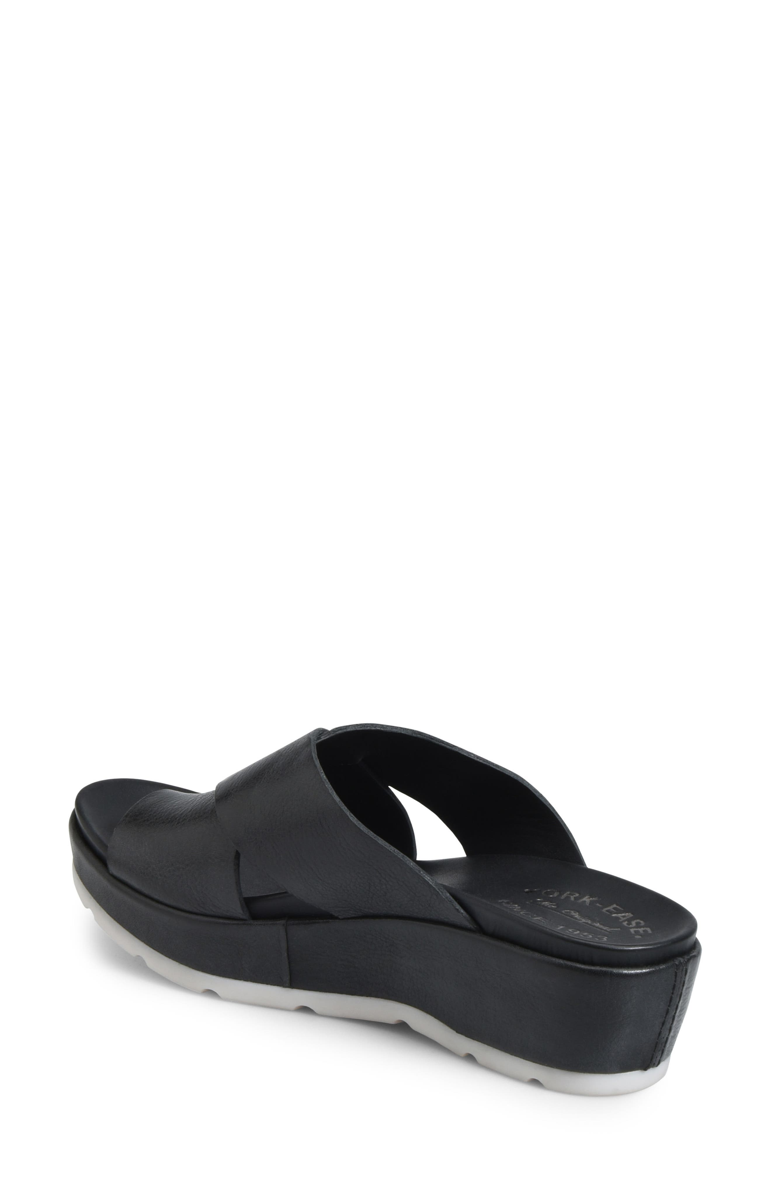 KORK-EASE<SUP>®</SUP>, Baja Sport Slide Sandal, Alternate thumbnail 2, color, BLACK LEATHER