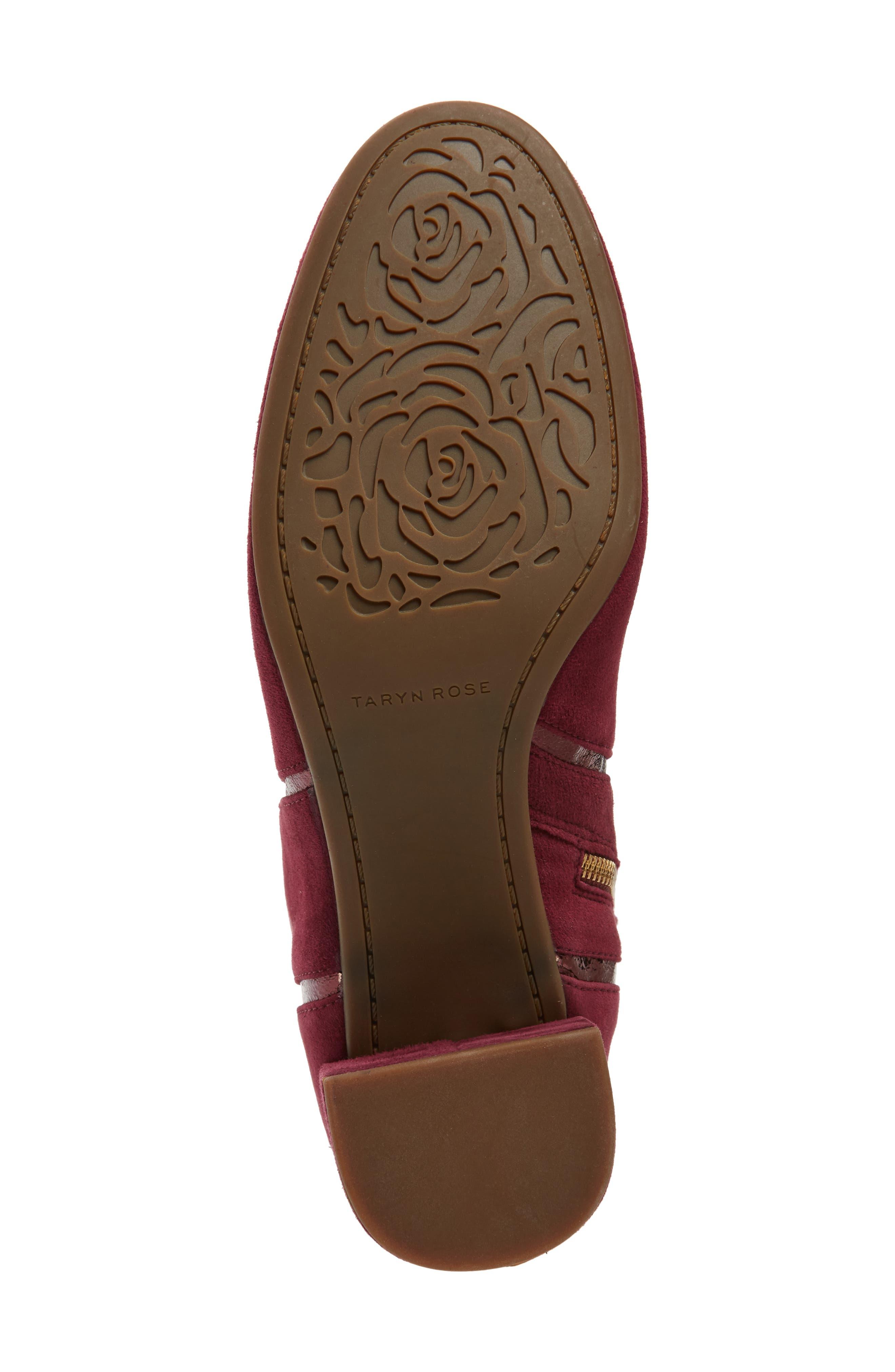 TARYN ROSE, Charlee Knee High Boot, Alternate thumbnail 6, color, FIG SUEDE
