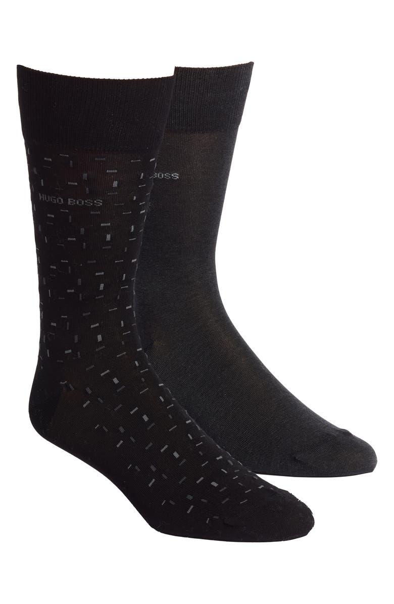 Boss Socks 2-PACK MICRO JACQUARD SOCKS