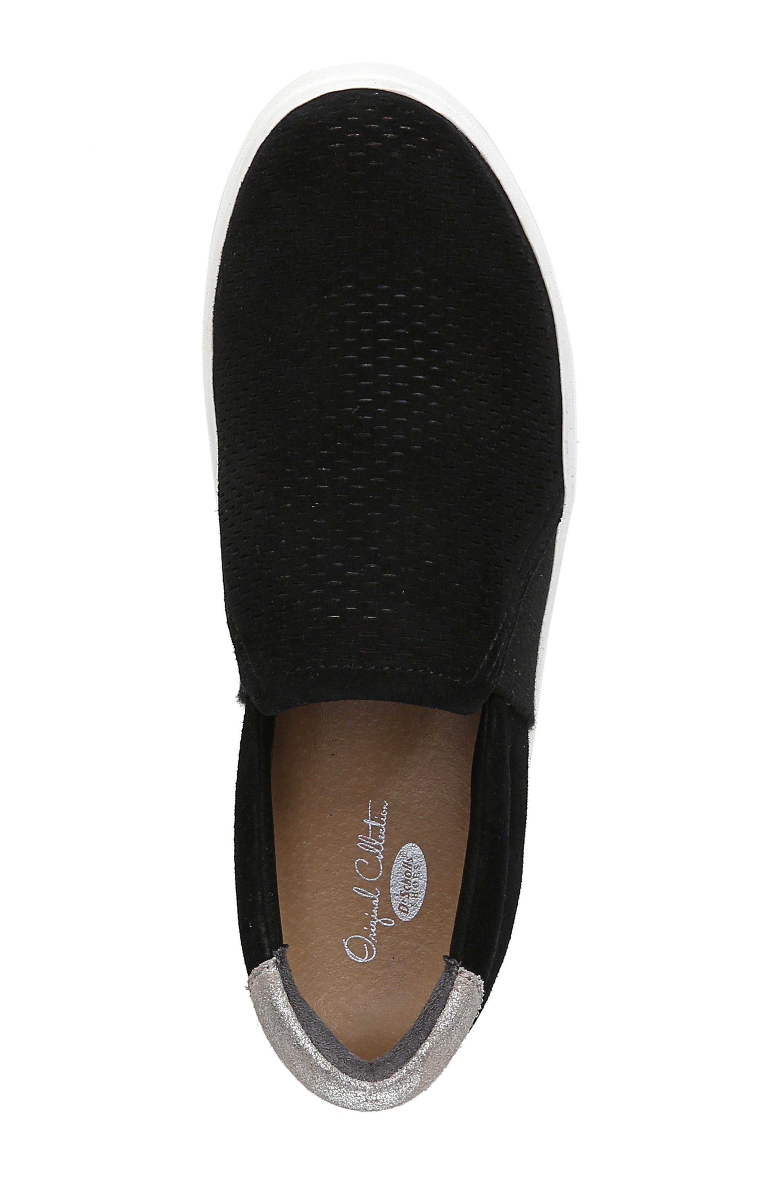 DR. SCHOLL'S, Abbot Lux Sneaker, Alternate thumbnail 5, color, BLACK SUEDE