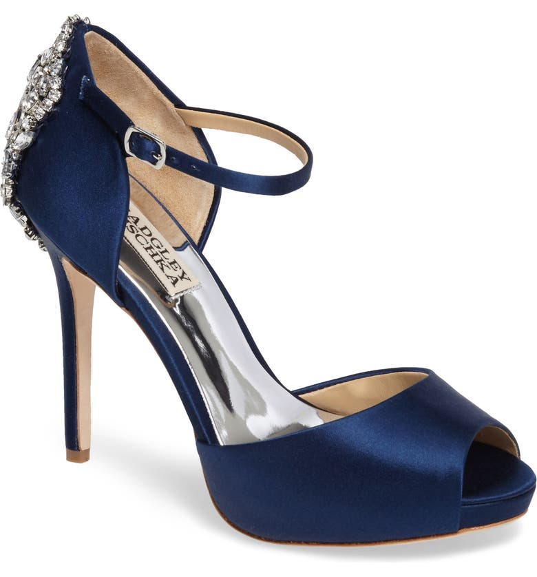 41fc60a6501 BADGLEY MISCHKA COLLECTION Badgley Mischka  Dawn  Crystal Back d Orsay  Pump