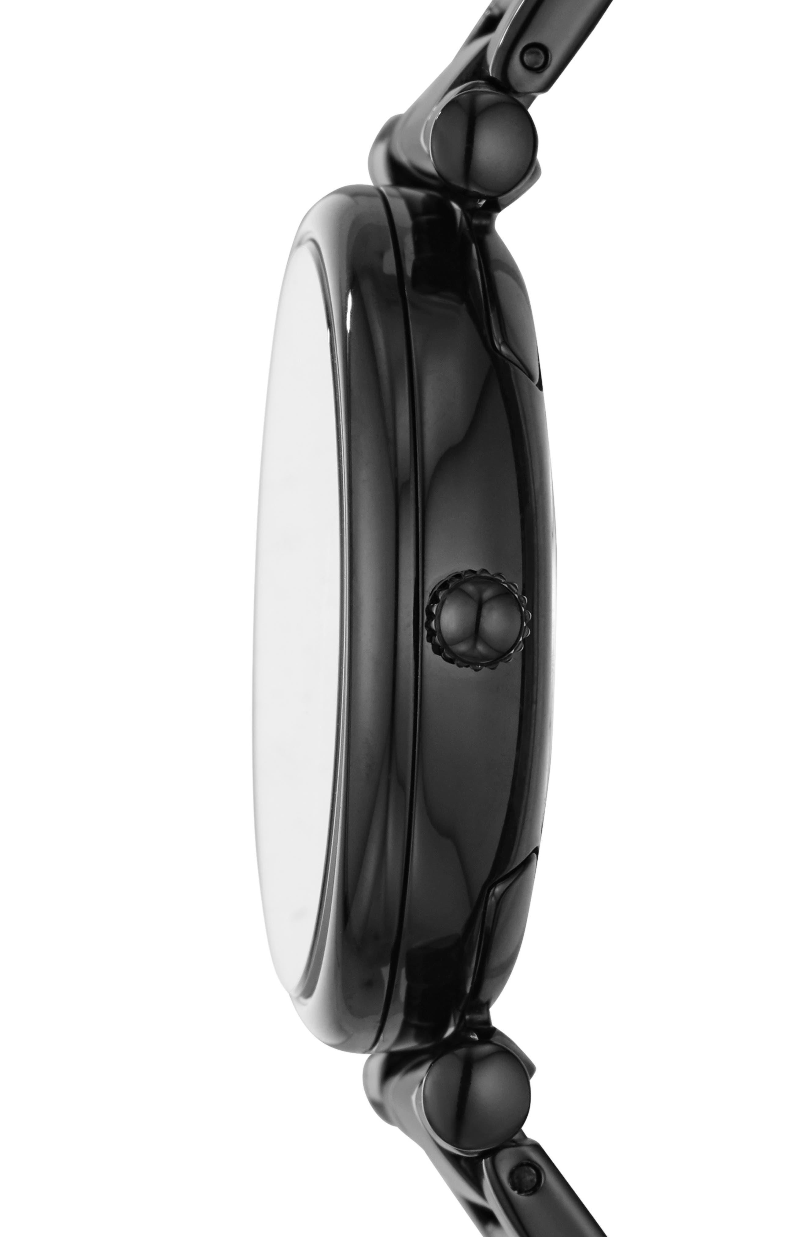 FOSSIL, Carlie Bracelet Watch, 35mm, Alternate thumbnail 2, color, BLACK