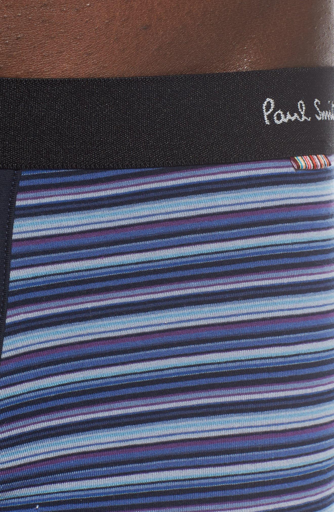 PAUL SMITH, Stripe Trunks, Alternate thumbnail 4, color, BLACK