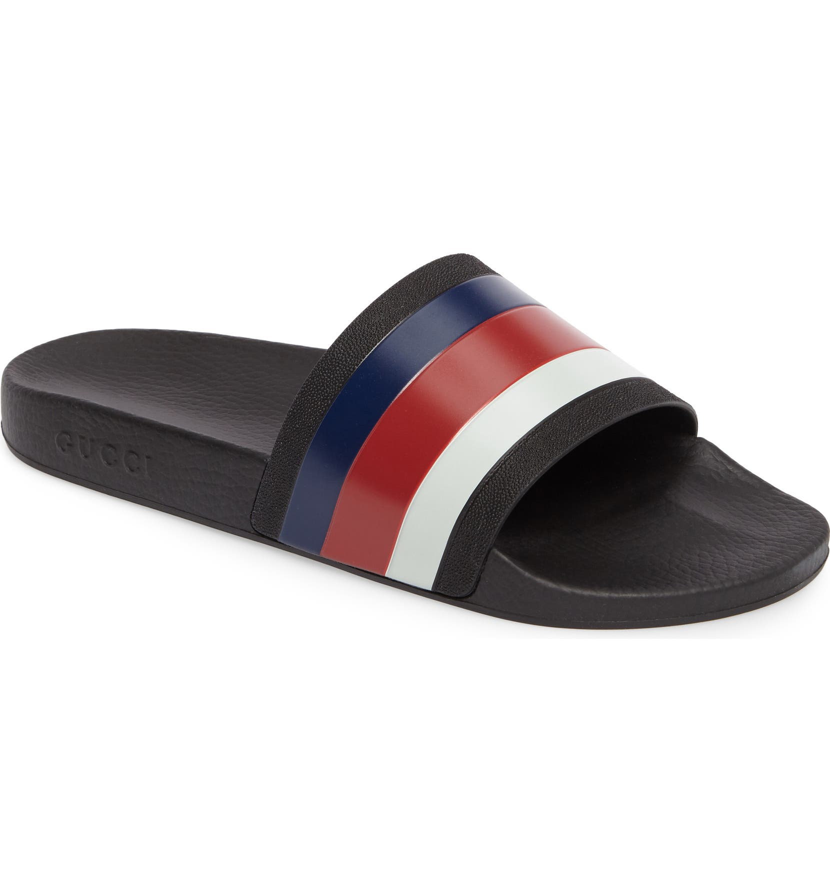 7f516607baea Gucci Pursuit Rubber Slide Sandal (Men)