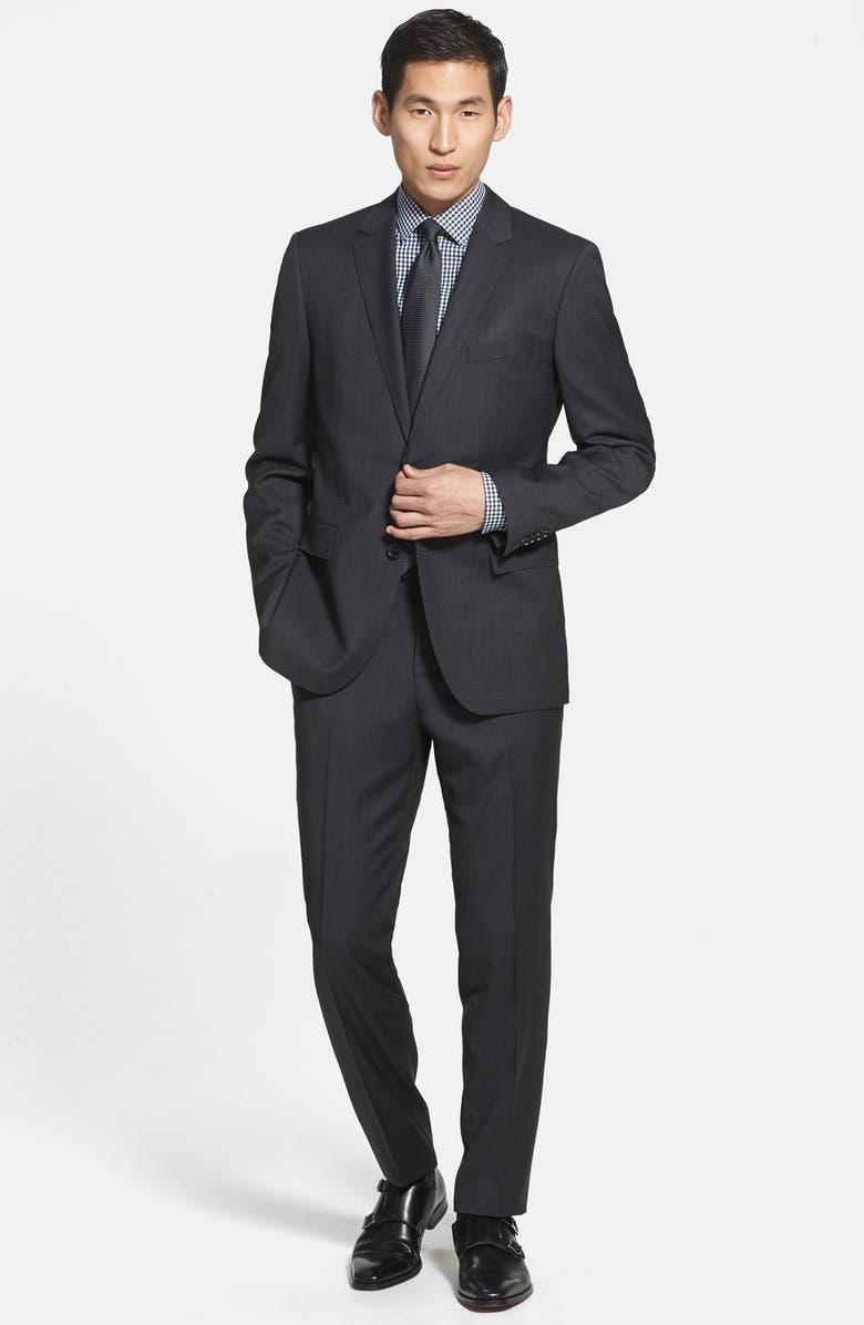 0fb72e8c7 ZZDNUHUGO BOSS BOSS HUGO BOSS 'James/Sharp' Trim Fit Black Wool Suit,