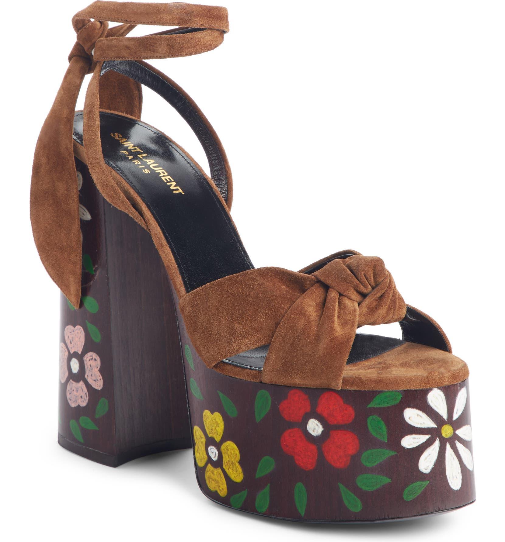 6523c2c0ab86 Saint Laurent Paige Floral Platform Sandal (Women)