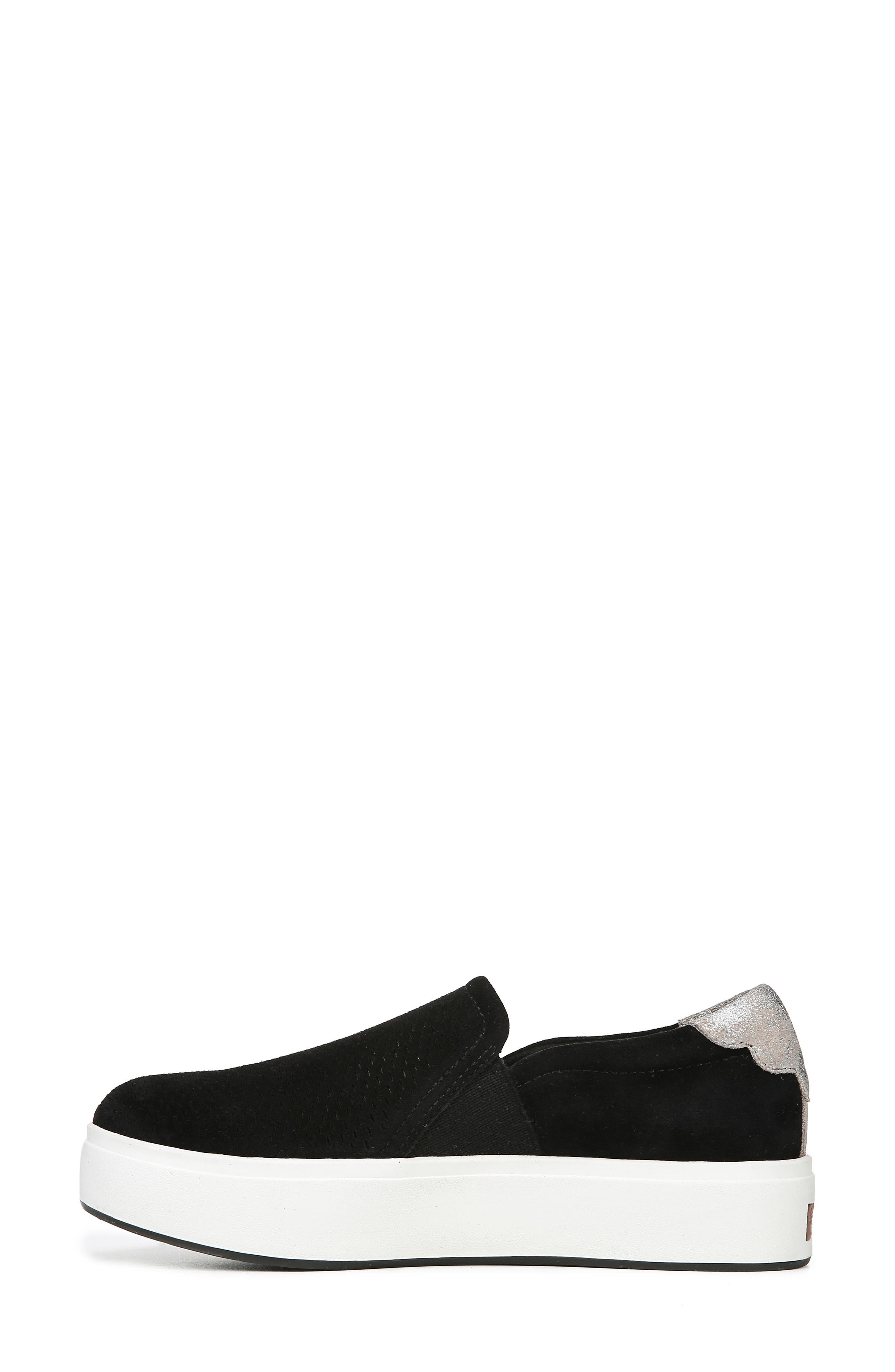 DR. SCHOLL'S, Abbot Lux Sneaker, Alternate thumbnail 8, color, BLACK SUEDE