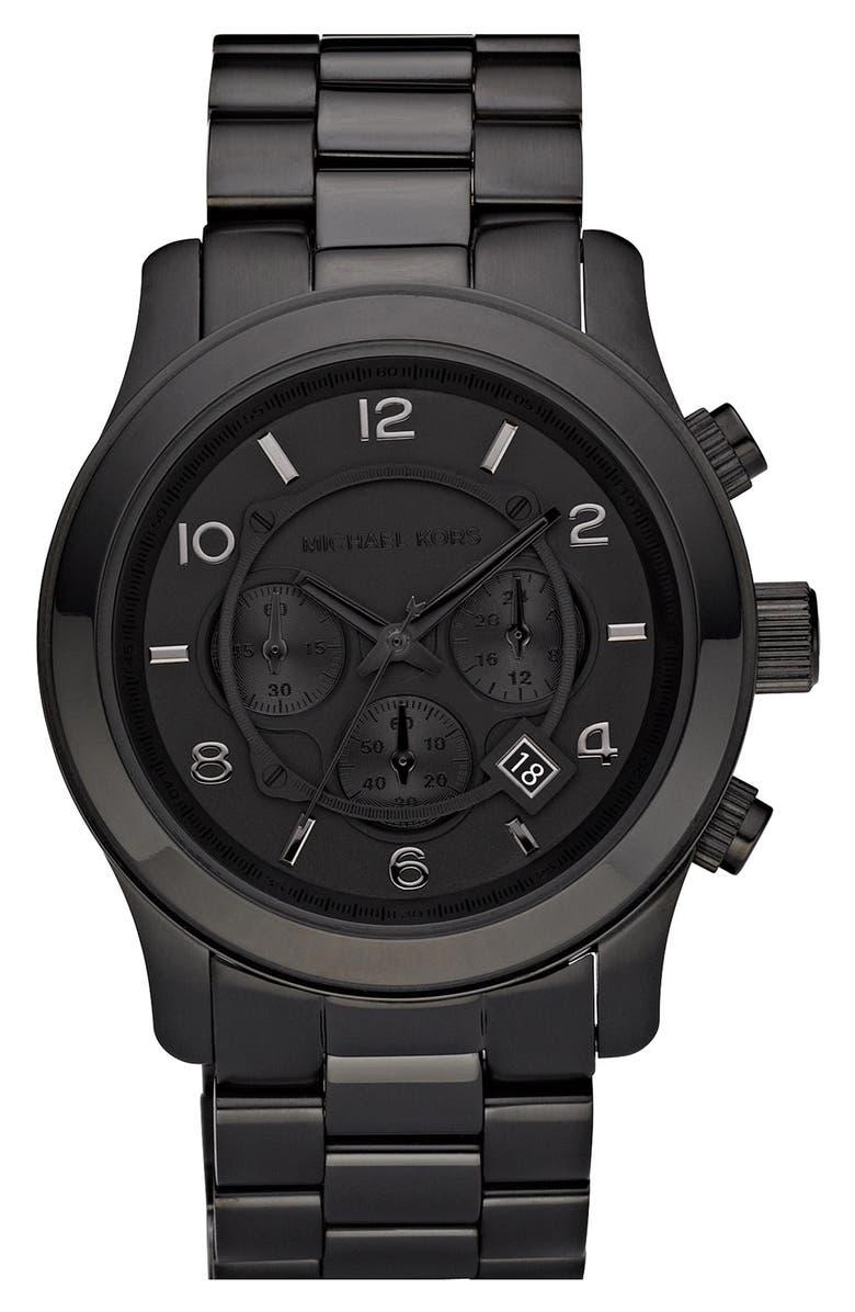 db8cd40bd09f Michael Kors  Large Runway  Chronograph Bracelet Watch