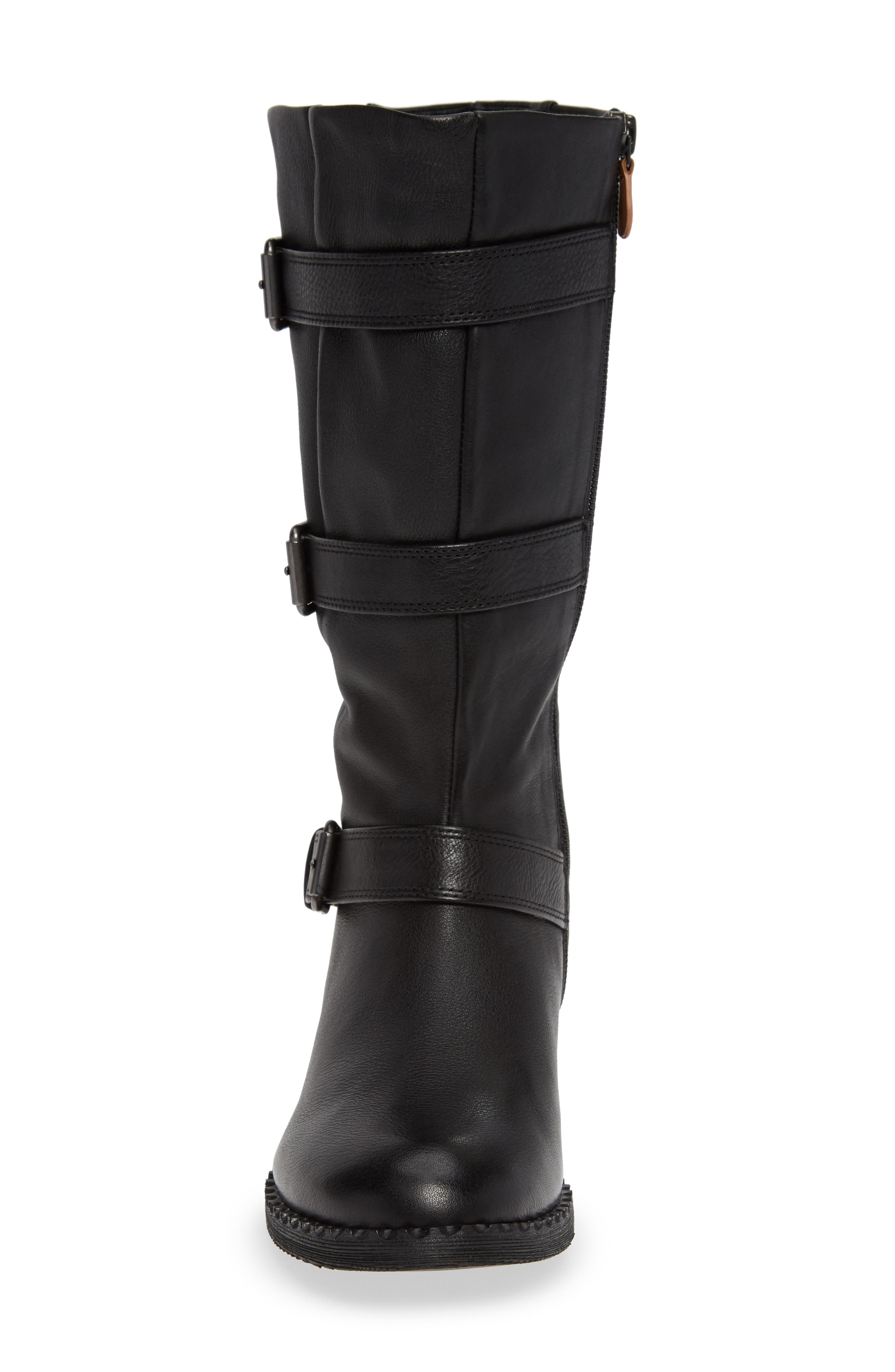 GENTLE SOULS BY KENNETH COLE, Best 3-Buckle Boot, Alternate thumbnail 4, color, 001