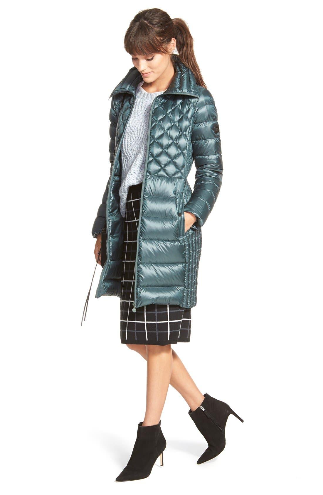 HALOGEN<SUP>®</SUP>, Windowpane Check Knit Pencil Skirt, Alternate thumbnail 2, color, 001