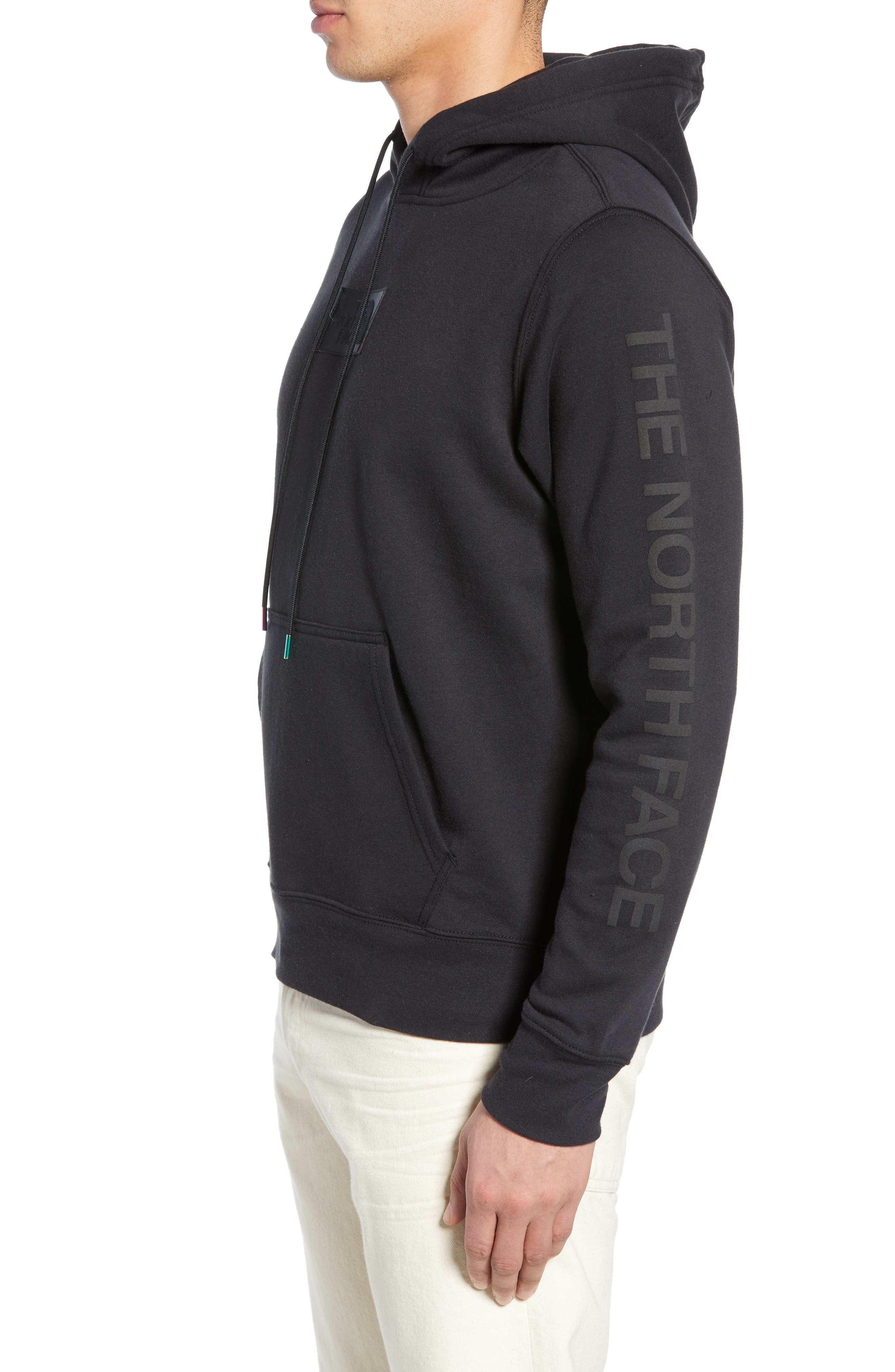 THE NORTH FACE, Urban Ex Collection Pullover Hoodie, Alternate thumbnail 3, color, TNF BLACK