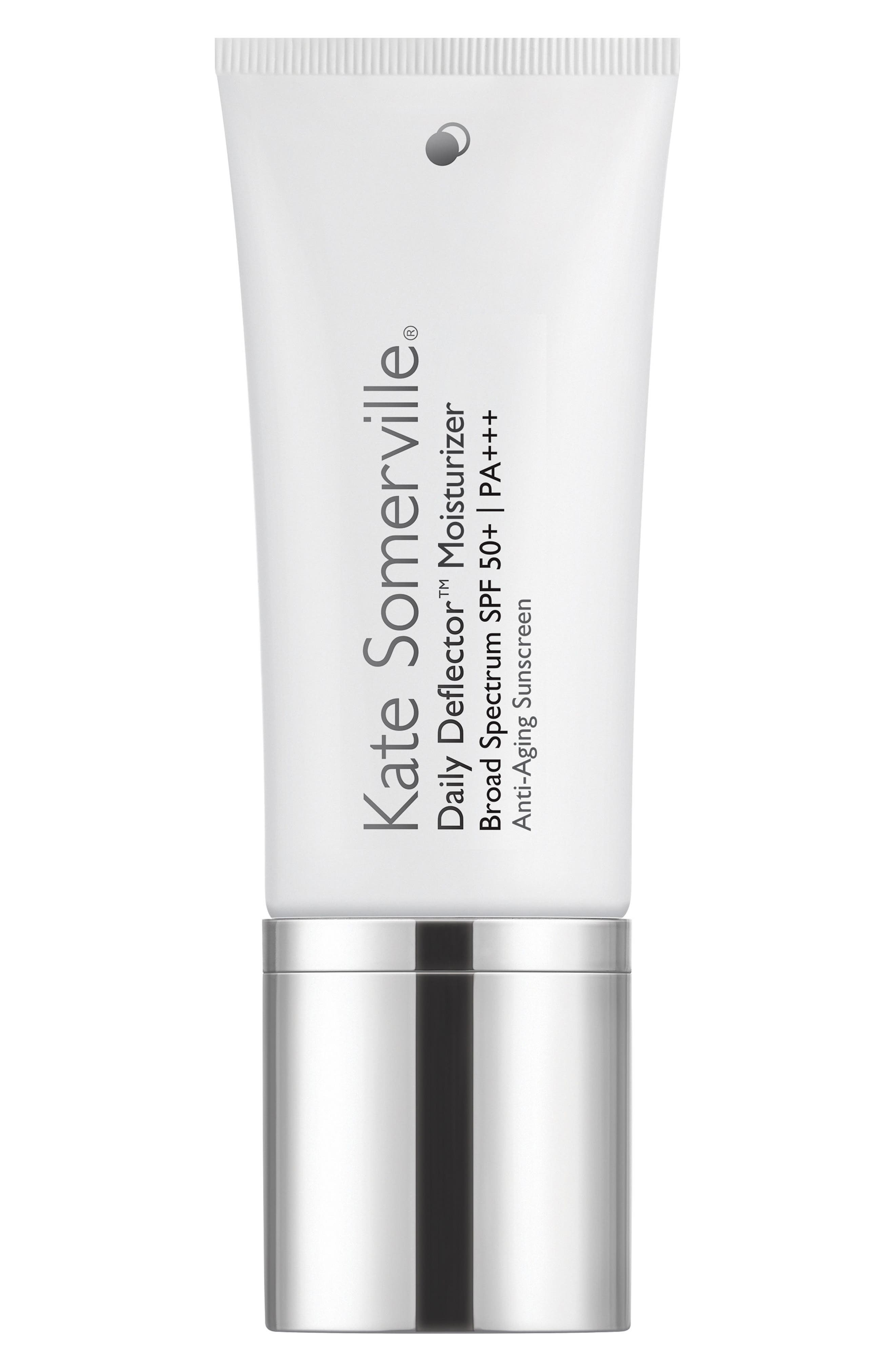 KATE SOMERVILLE<SUP>®</SUP>, 'Daily Deflector<sup>™</sup>' Moisturizer Broad Spectrum SPF 50+ Anti-Aging Sunscreen, Main thumbnail 1, color, 000