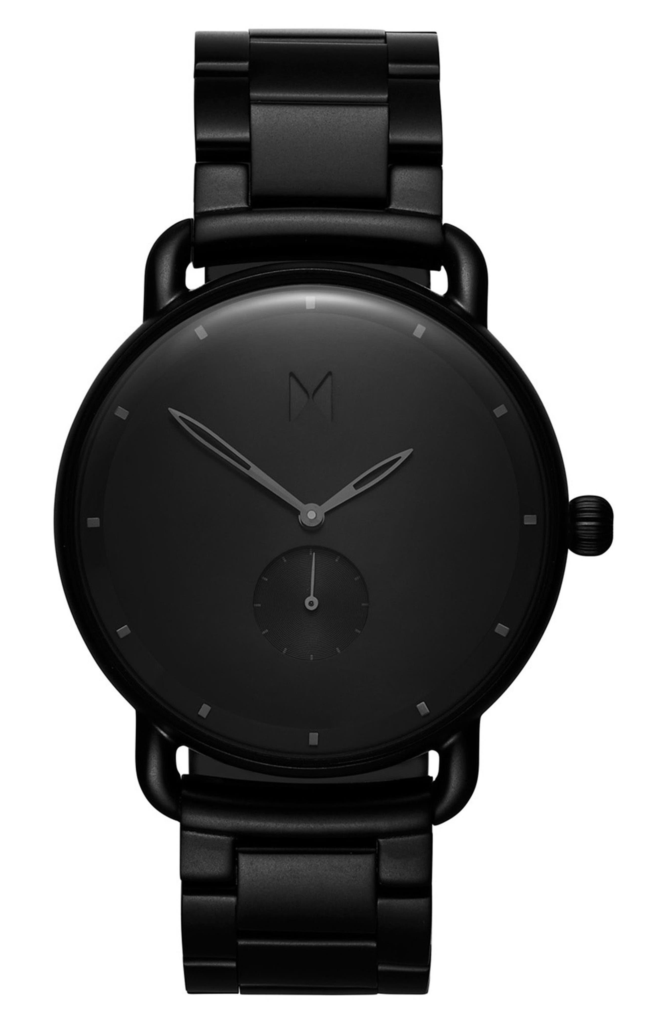 MVMT Revolver Avalon Bracelet Watch, 41mm, Main, color, BLACK/ BLACK