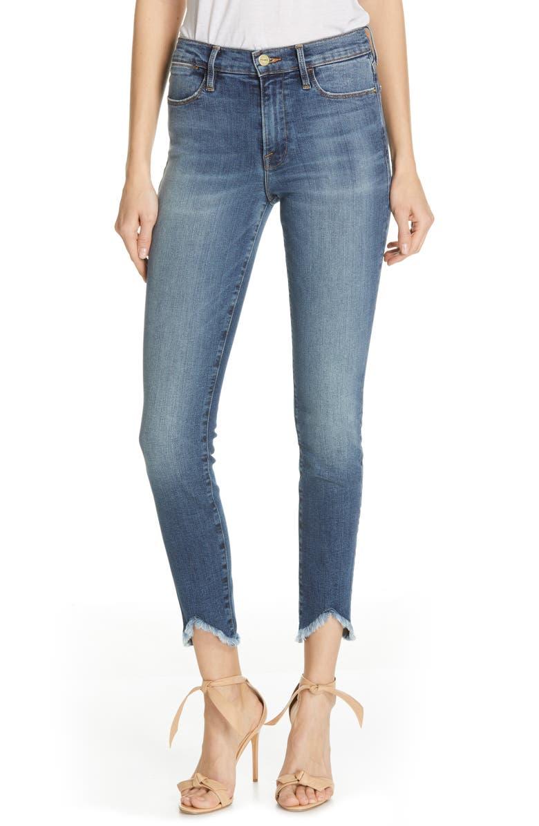 Frame Jeans LE HIGH TRIANGLE HEM ANKLE SKINNY JEANS