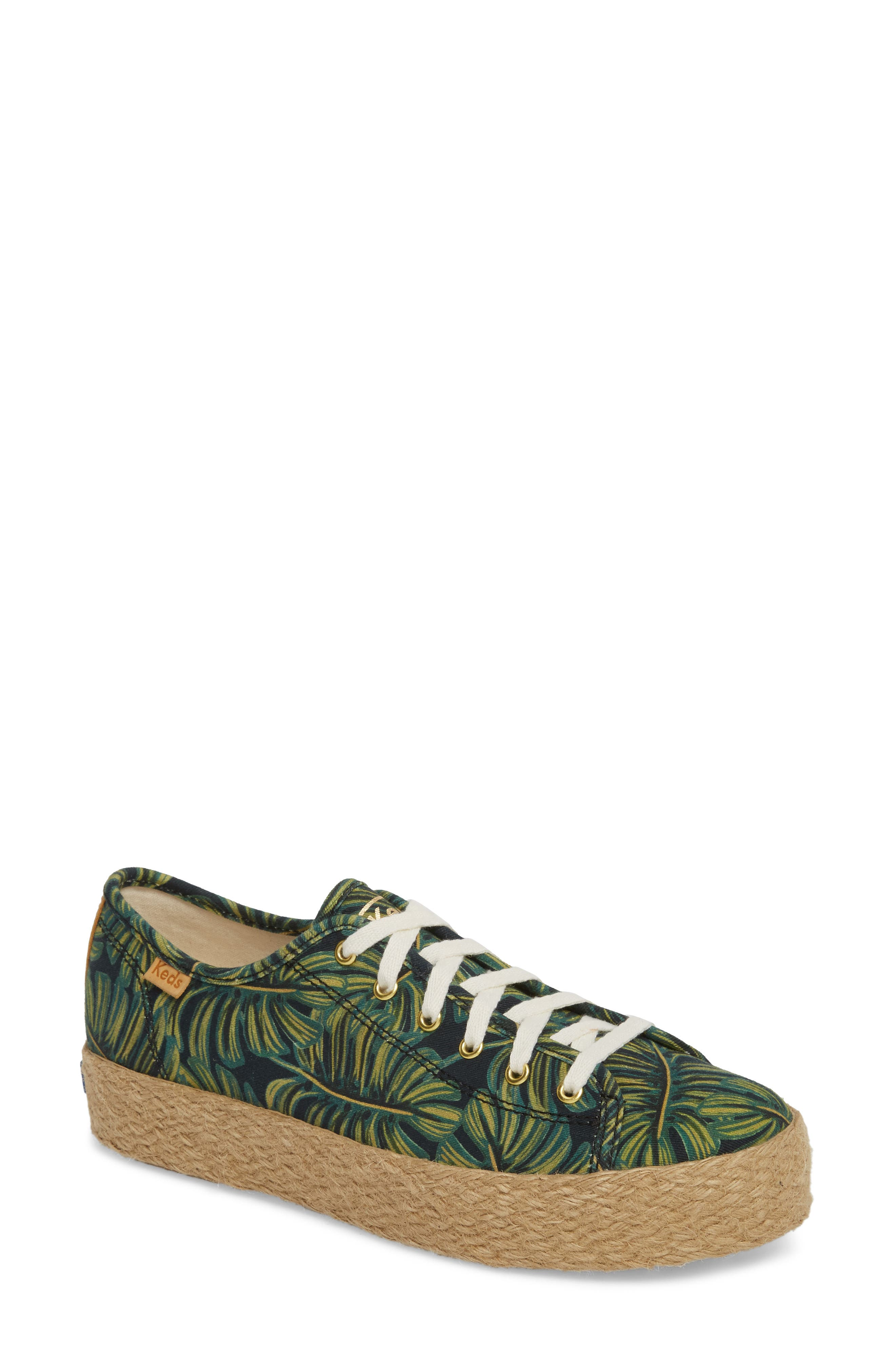 KEDS<SUP>®</SUP>, x Rifle Paper Co. Triple Kick Palms Platform Sneaker, Main thumbnail 1, color, 001
