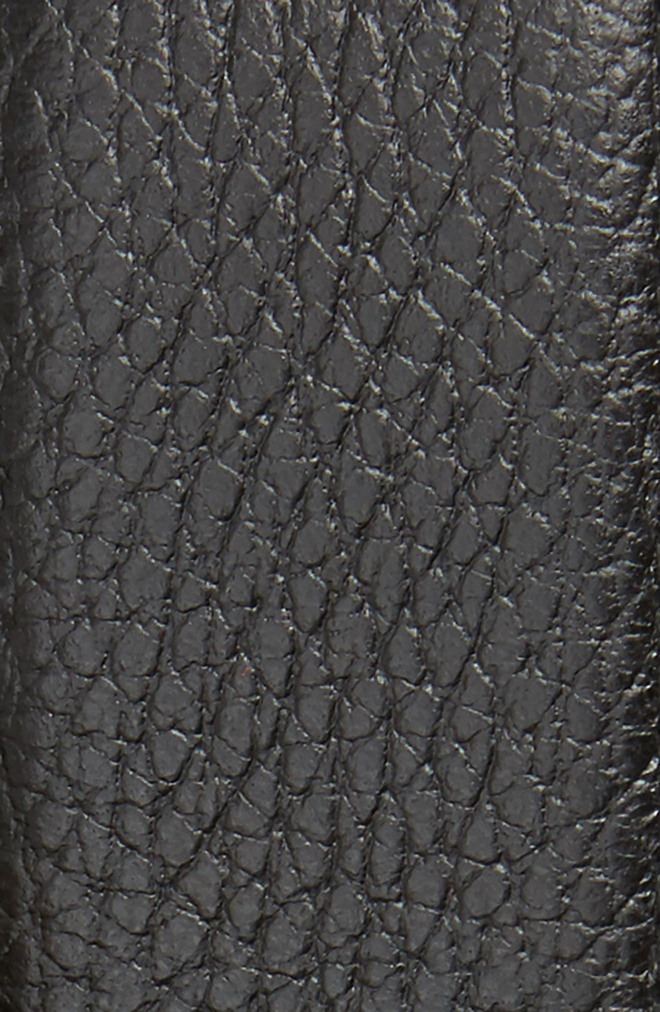 GUCCI, Interlocking-G Calfskin Leather Belt, Alternate thumbnail 2, color, BLACK