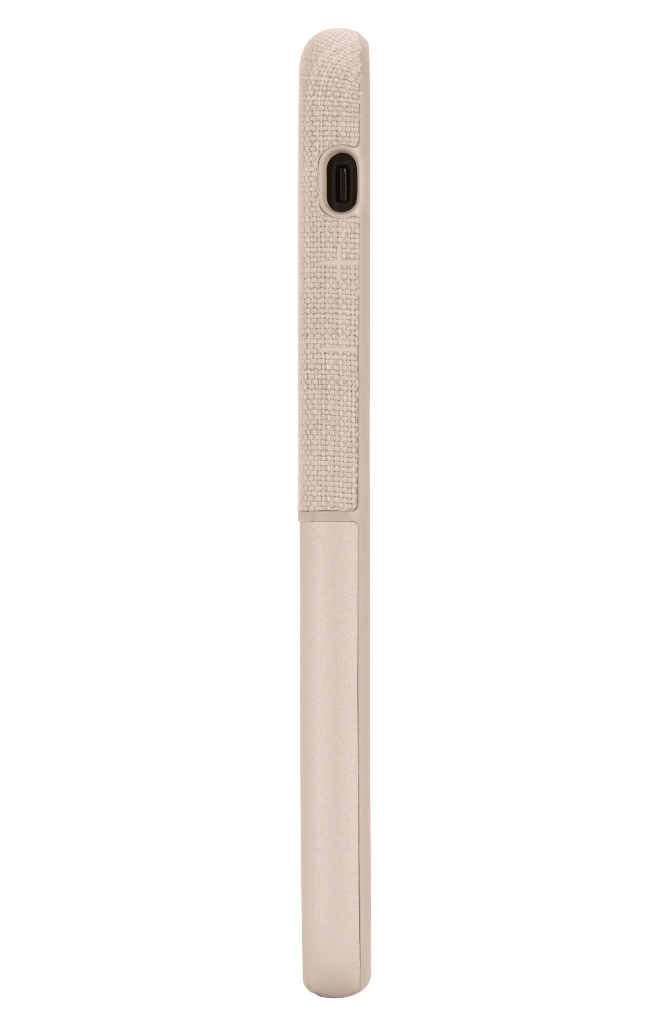 INCASE DESIGNS, Textured Snap iPhone X & Xs Case, Alternate thumbnail 3, color, ROSE GOLD