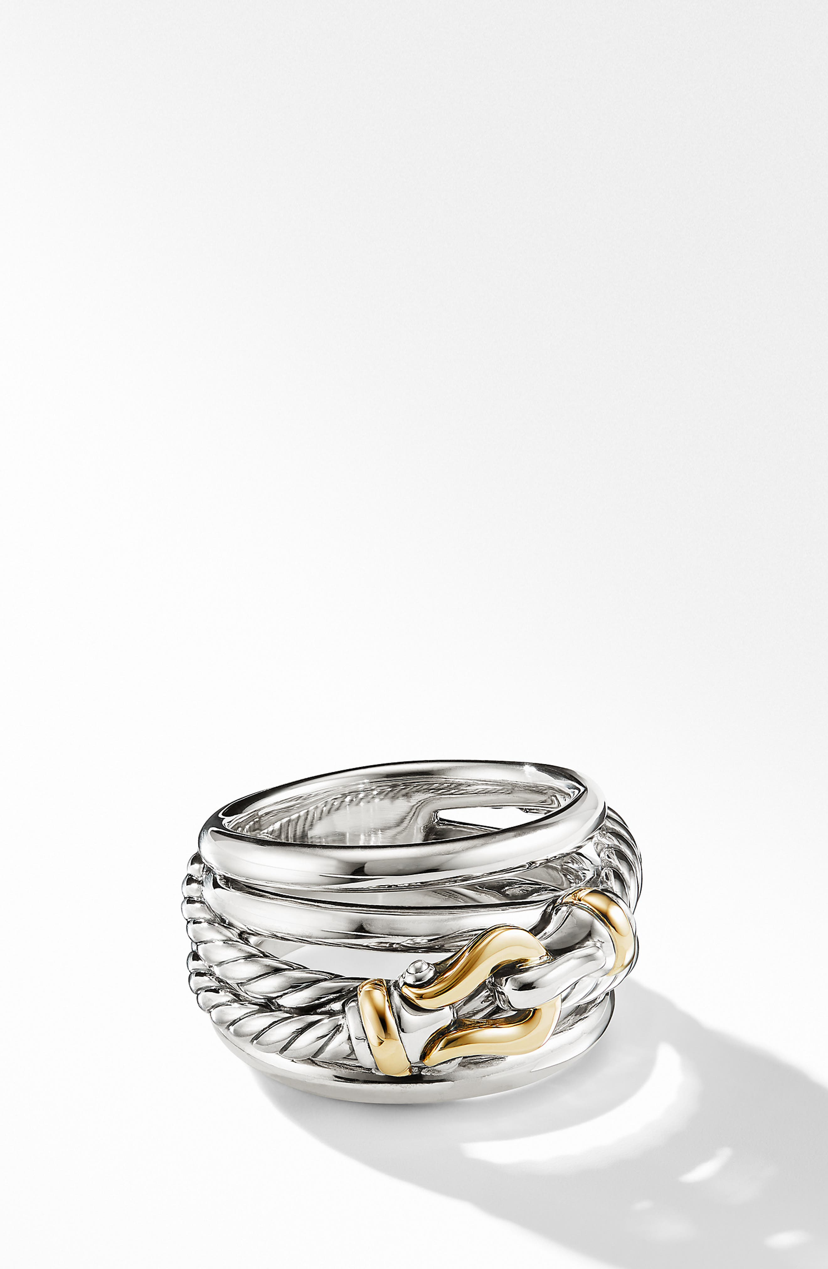 DAVID YURMAN Buckle Ring, Main, color, SILVER/ GOLD