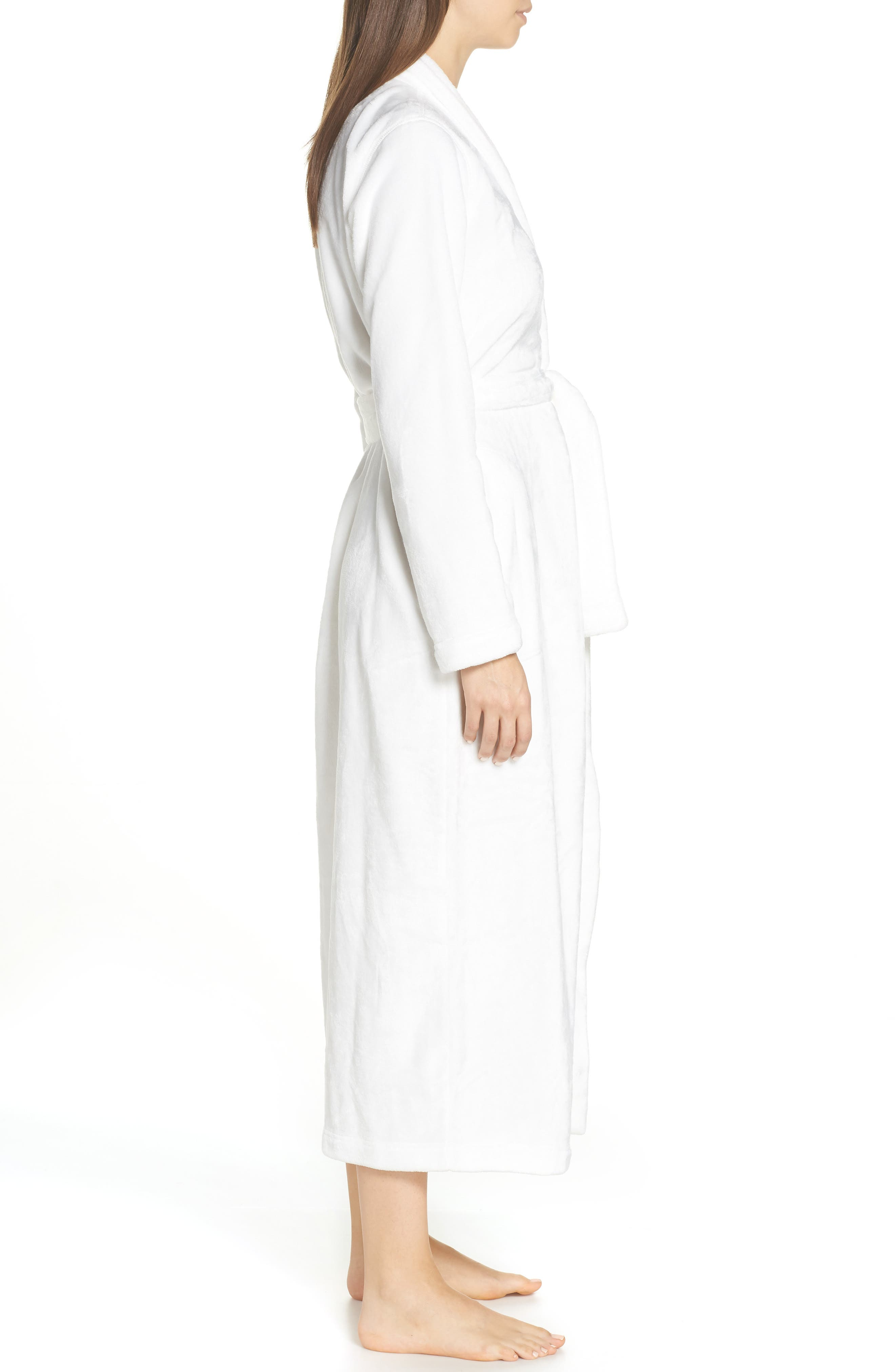 UGG<SUP>®</SUP>, Marlow Double-Face Fleece Robe, Alternate thumbnail 3, color, SEAGULL