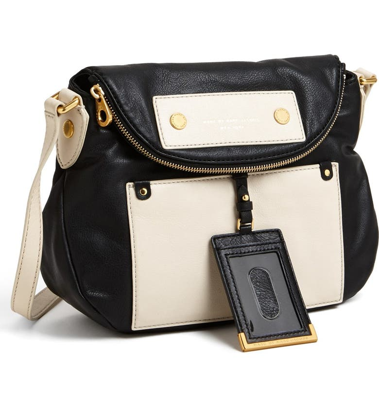 MARC JACOBS MARC BY MARC JACOBS  Preppy Colorblock - Natasha  Leather  Crossbody Bag