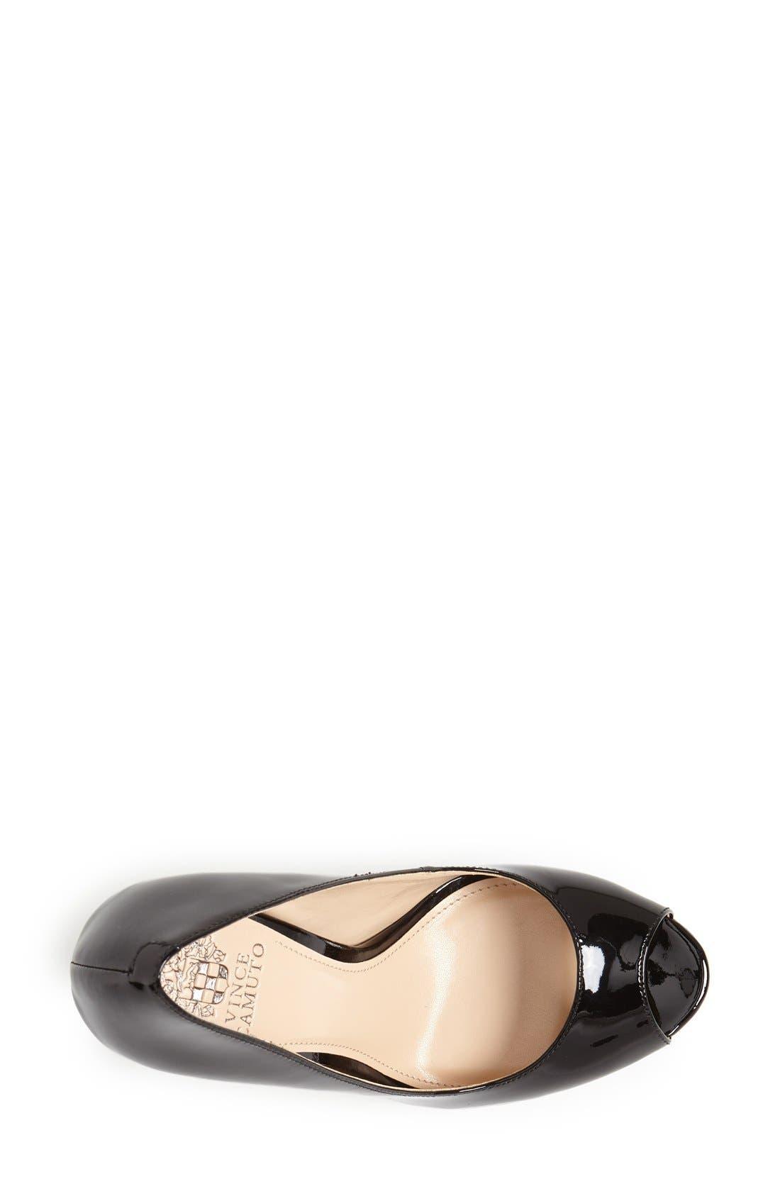 VINCE CAMUTO, 'Lorim' Peep Toe Platform Pump, Alternate thumbnail 3, color, 001