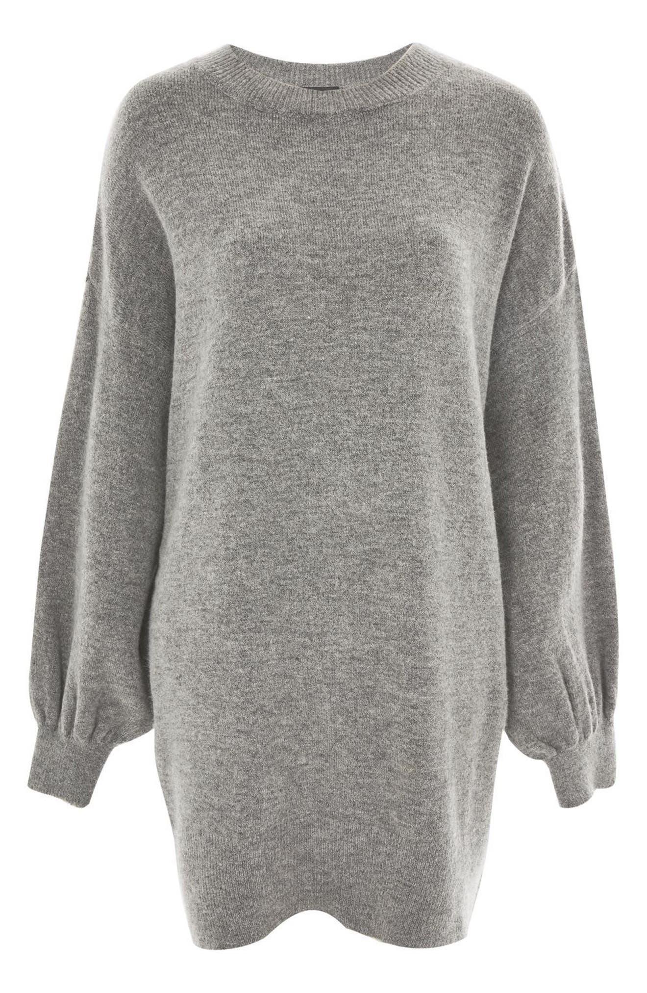 TOPSHOP, Sweater Dress, Alternate thumbnail 4, color, 021