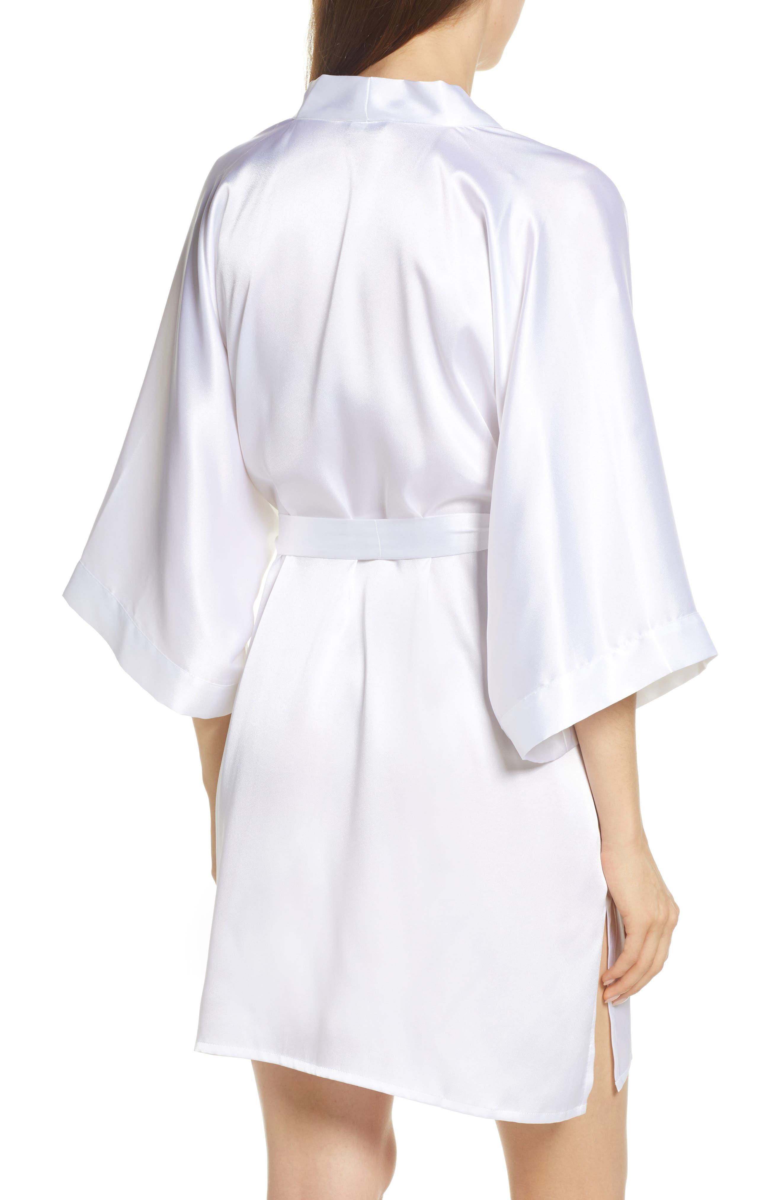 SAMANTHA CHANG, Kimono Robe, Alternate thumbnail 2, color, WHITE