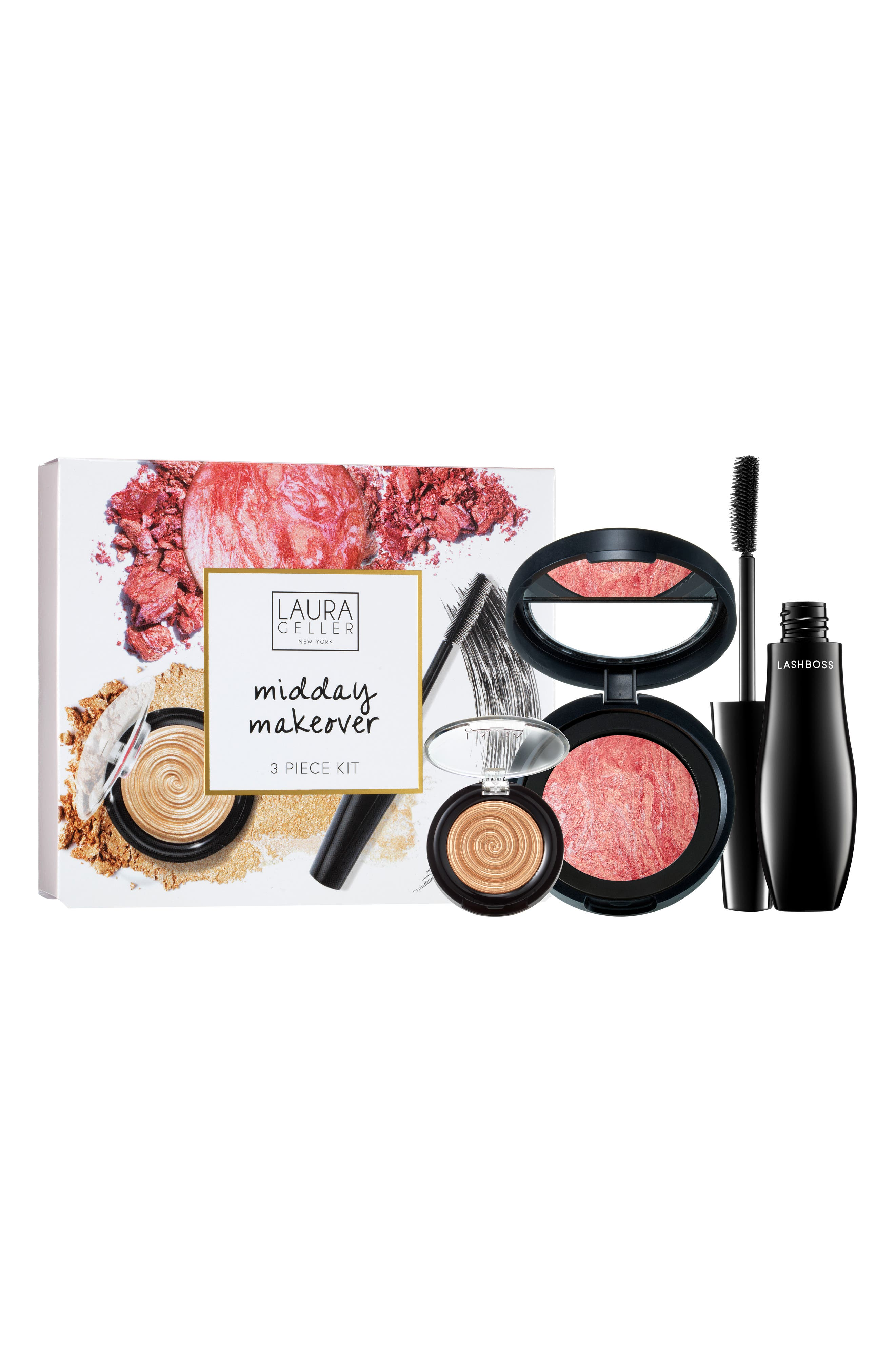 LAURA GELLER BEAUTY, Mid-Day Makeover Kit, Alternate thumbnail 2, color, NO COLOR