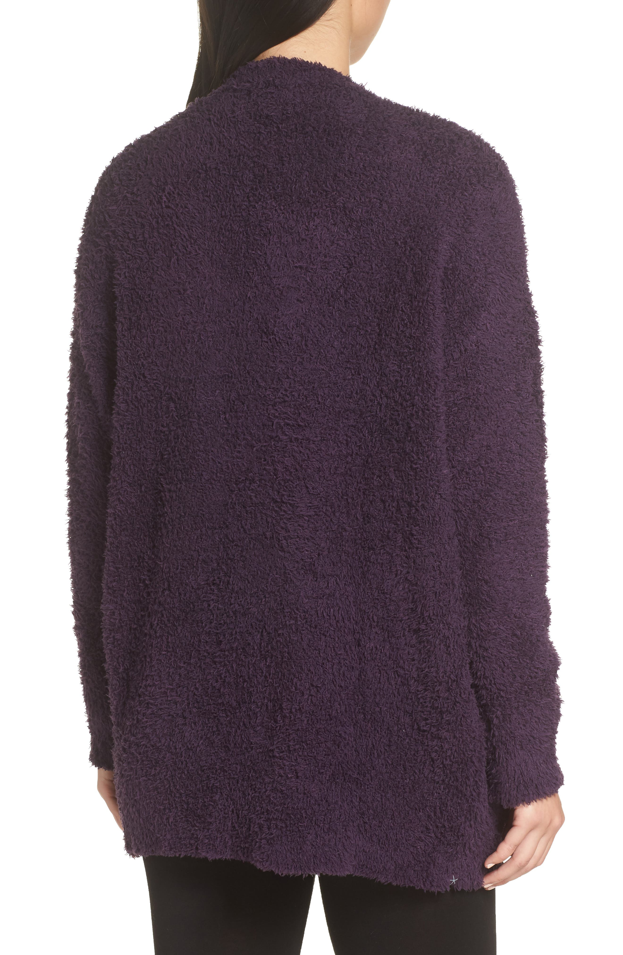 BAREFOOT DREAMS<SUP>®</SUP>, CozyChic<sup>®</sup> Cardigan, Alternate thumbnail 2, color, AMETHYST