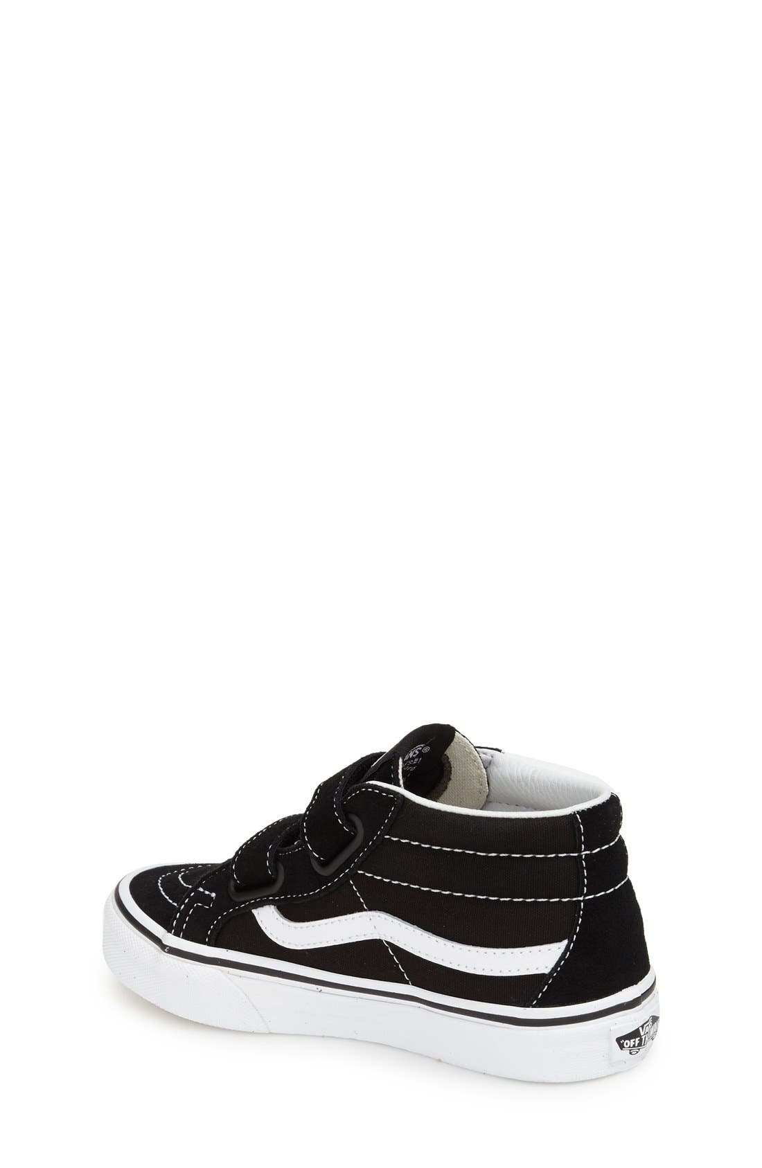 VANS, 'Sk8-Hi Reissue V' Sneaker, Alternate thumbnail 2, color, BLACK/ TRUE WHITE