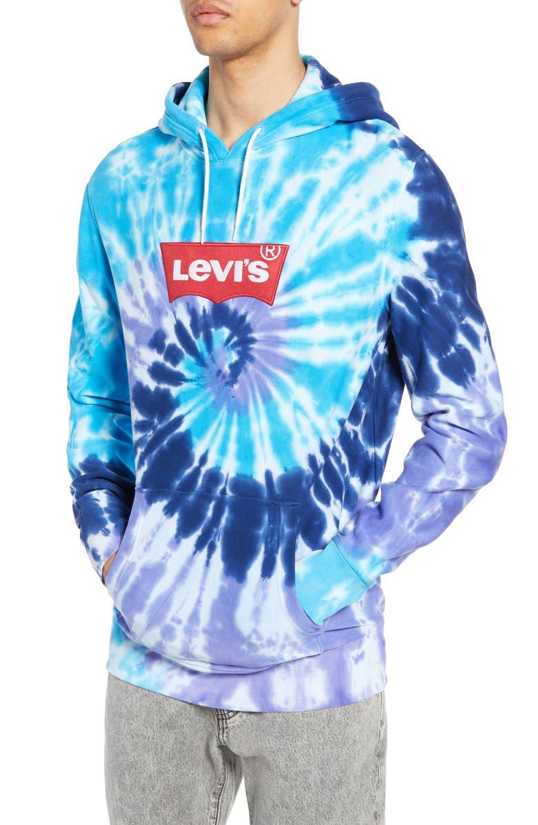 Levi's Tops TIE DYE LONGLINE HOODIE