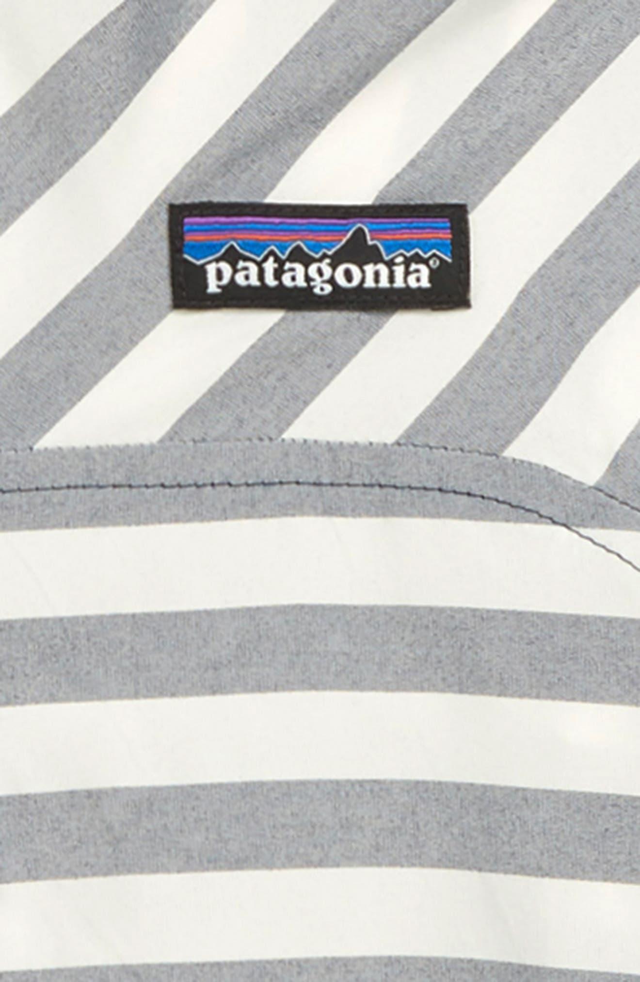 PATAGONIA, High Sun Hooded Windbreaker Jacket, Alternate thumbnail 2, color, STIX STRIPE/ NEO NAVY