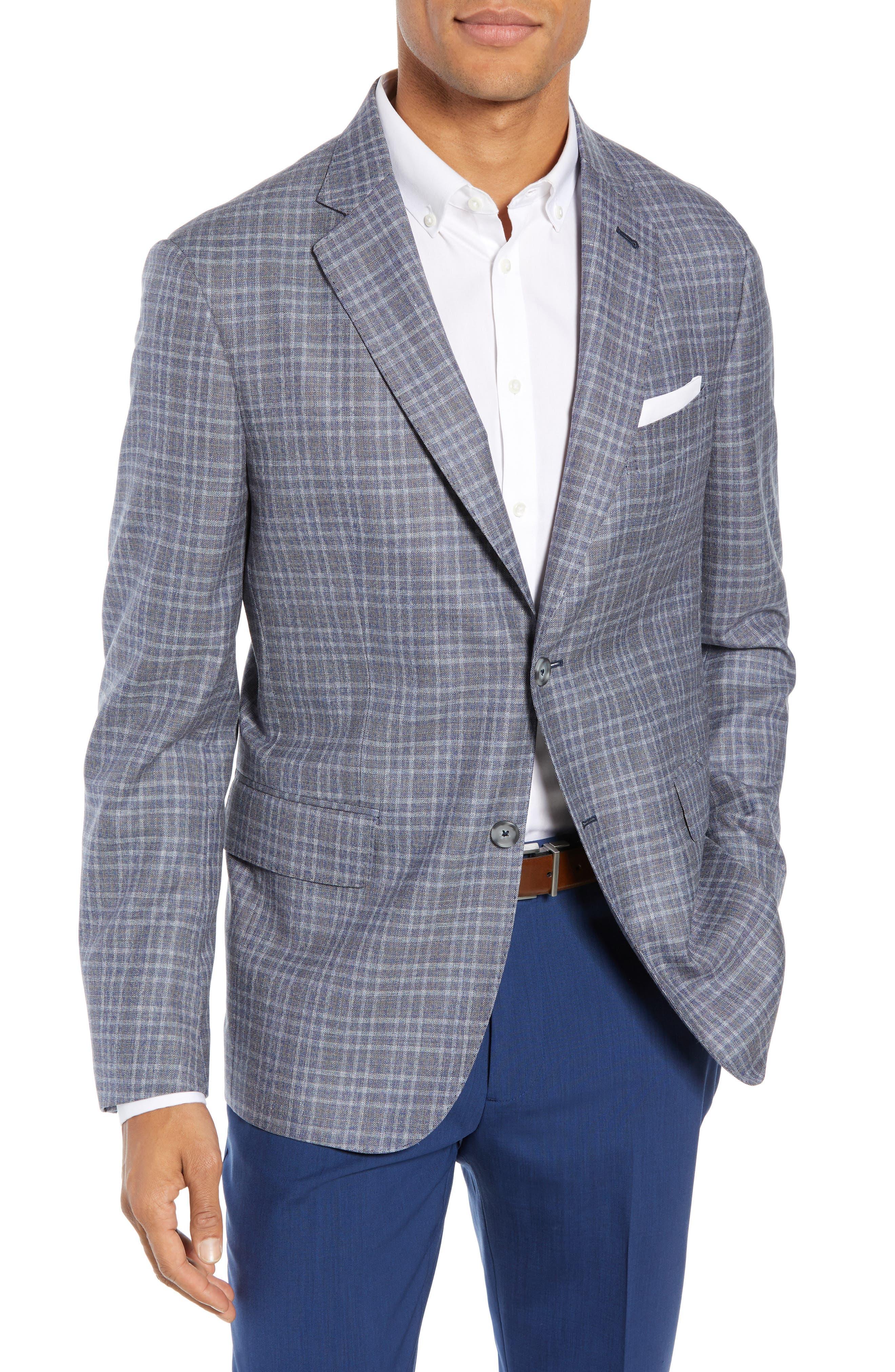 JOHN W. NORDSTROM<SUP>®</SUP> Classic Fit Plaid Wool Sport Coat, Main, color, 420