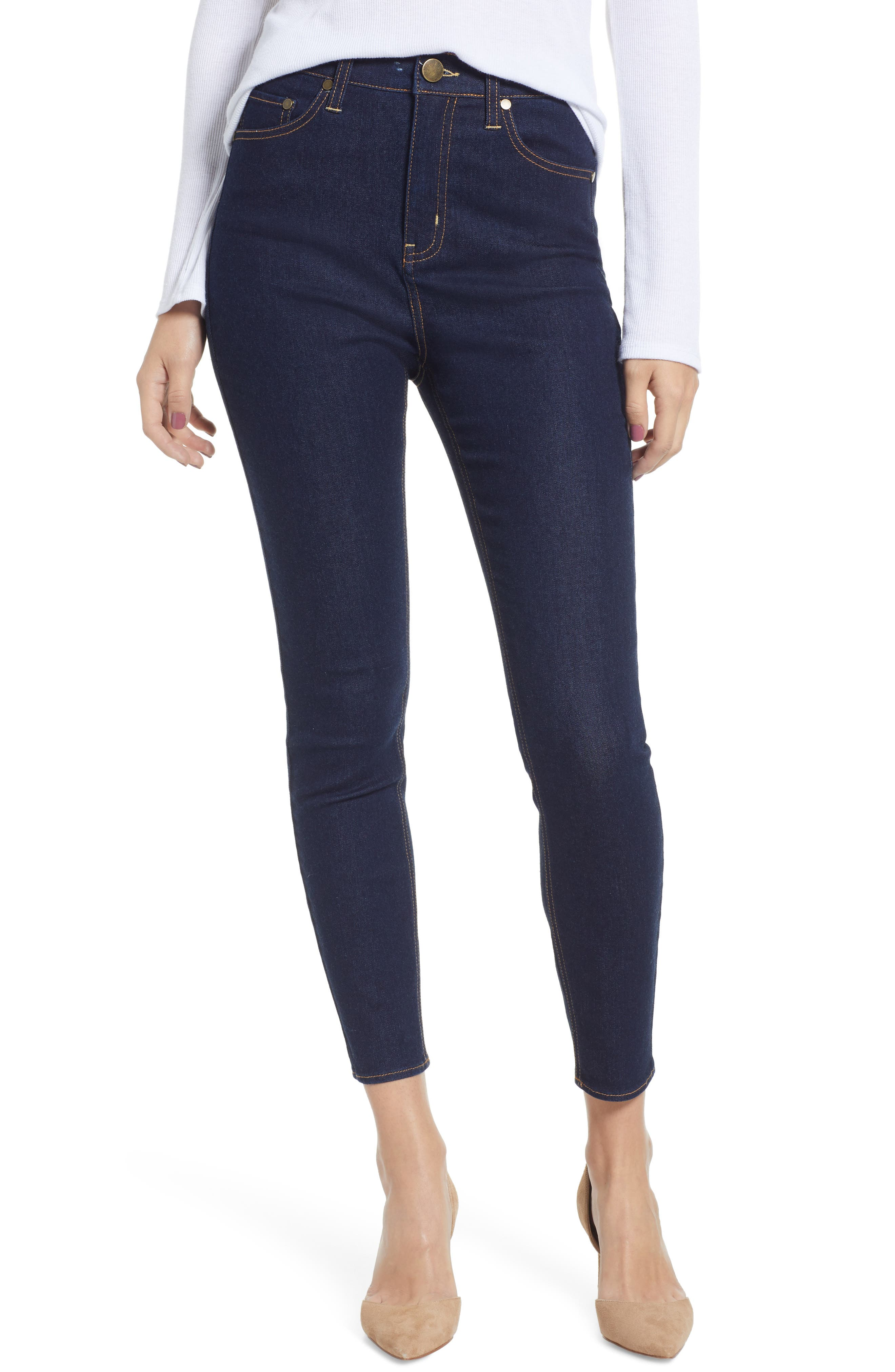 TINSEL High Waist Skinny Jeans, Main, color, 401