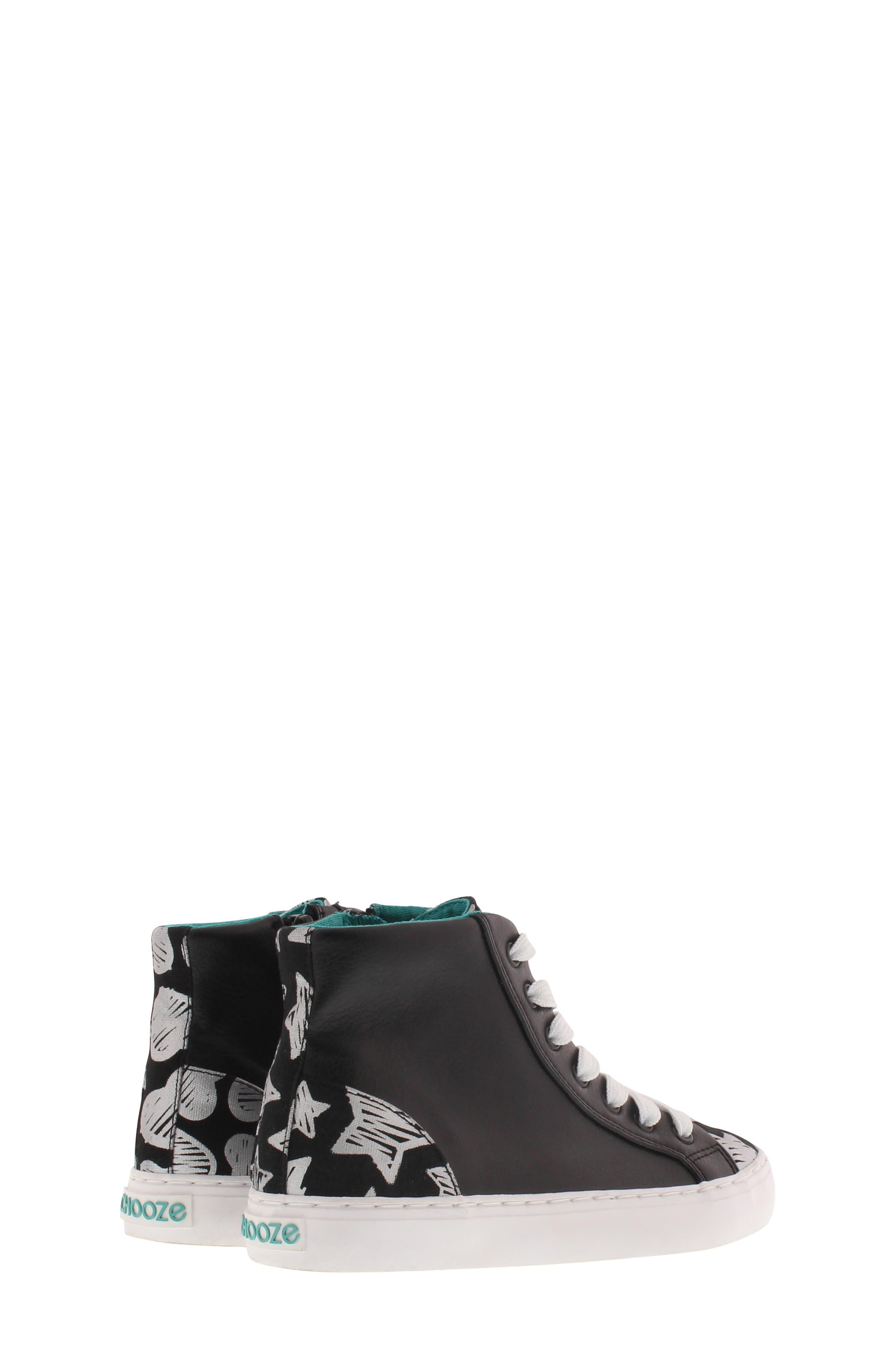 CHOOZE, Uplift Superstar High Top Sneaker, Alternate thumbnail 2, color, BLACK