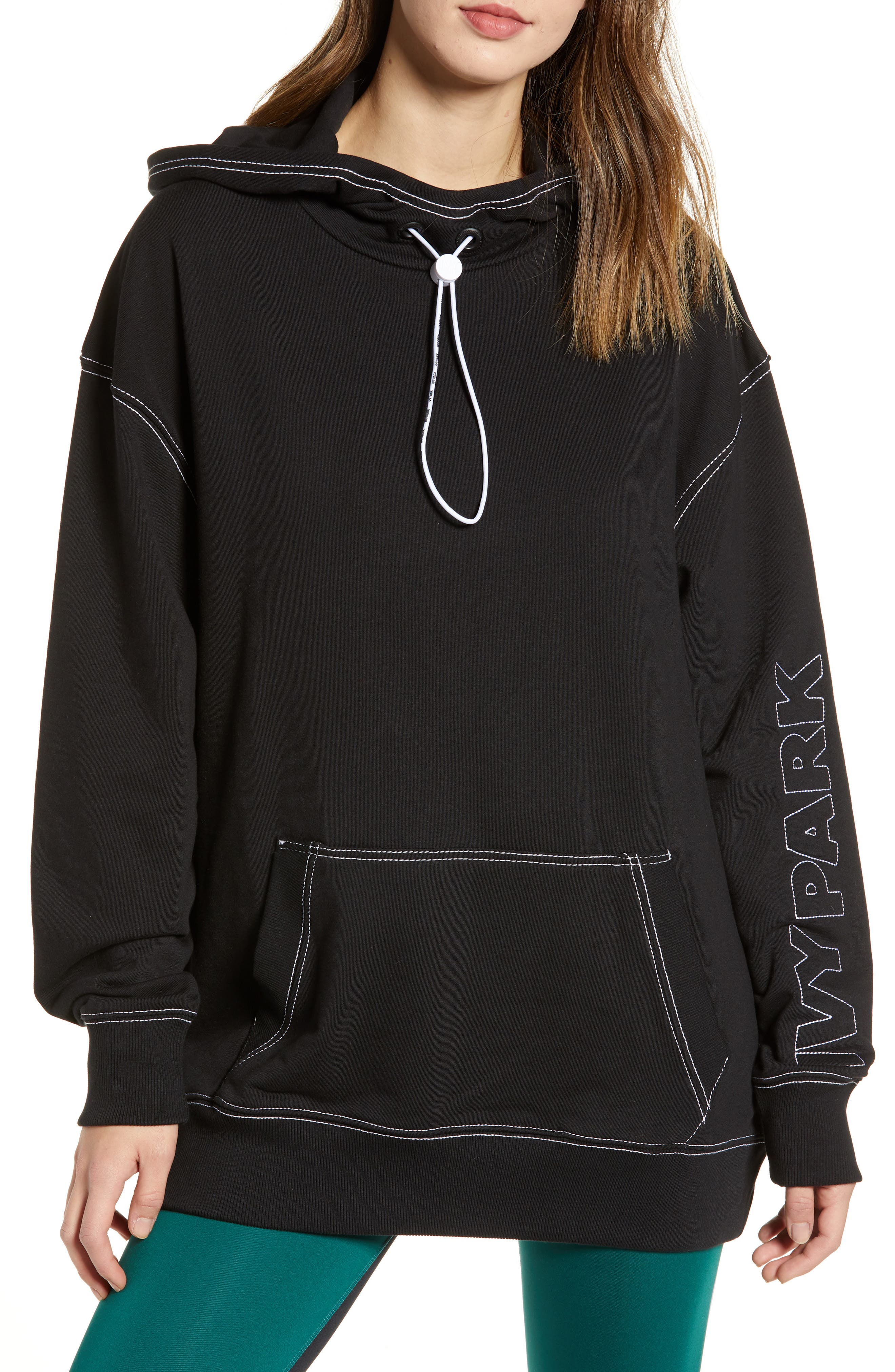 IVY PARK<SUP>®</SUP>, Stab Stitch Hoodie, Main thumbnail 1, color, 002