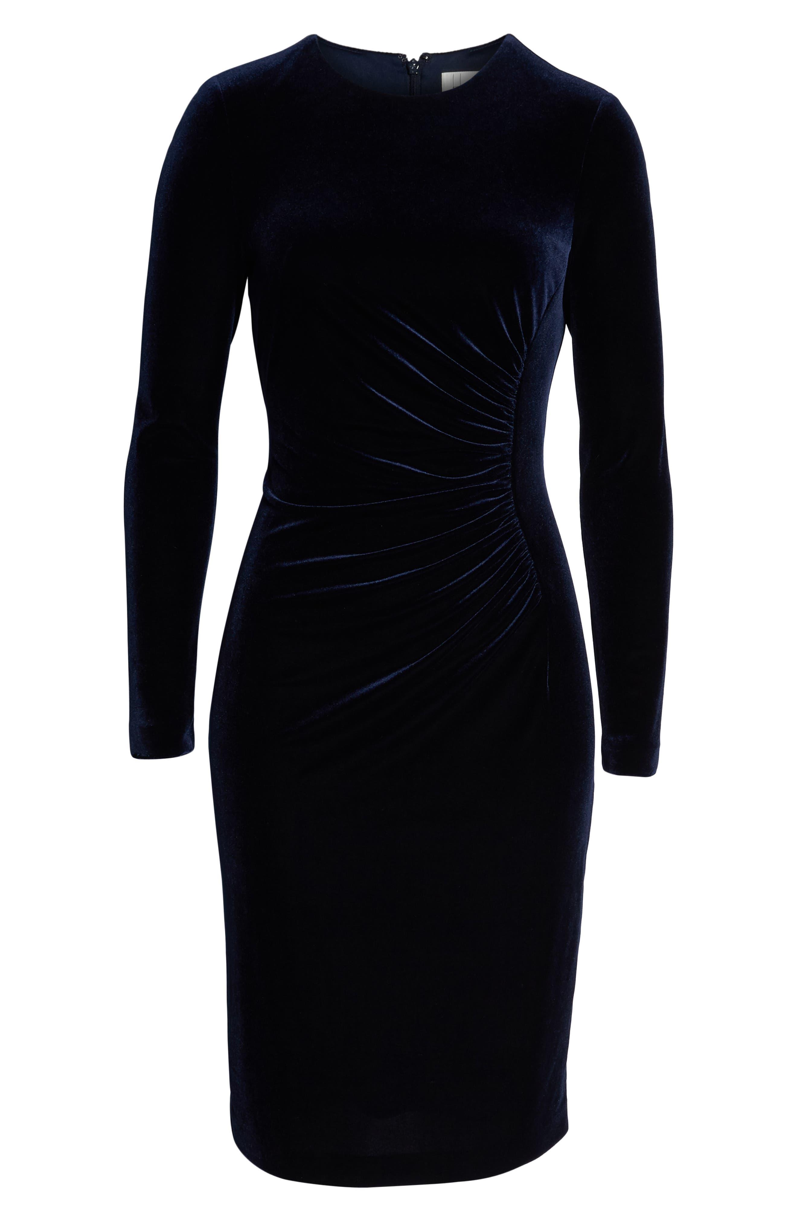 HARPER ROSE, Long Sleeve Body-Con Dress, Alternate thumbnail 7, color, 410