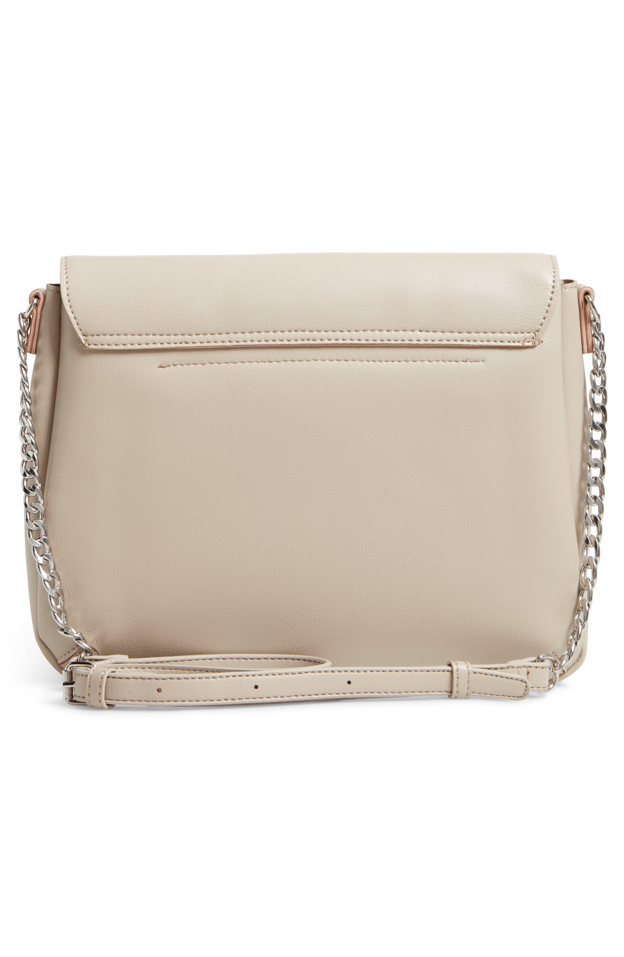 BP., Faux Leather Flap Crossbody Bag, Alternate thumbnail 3, color, 020