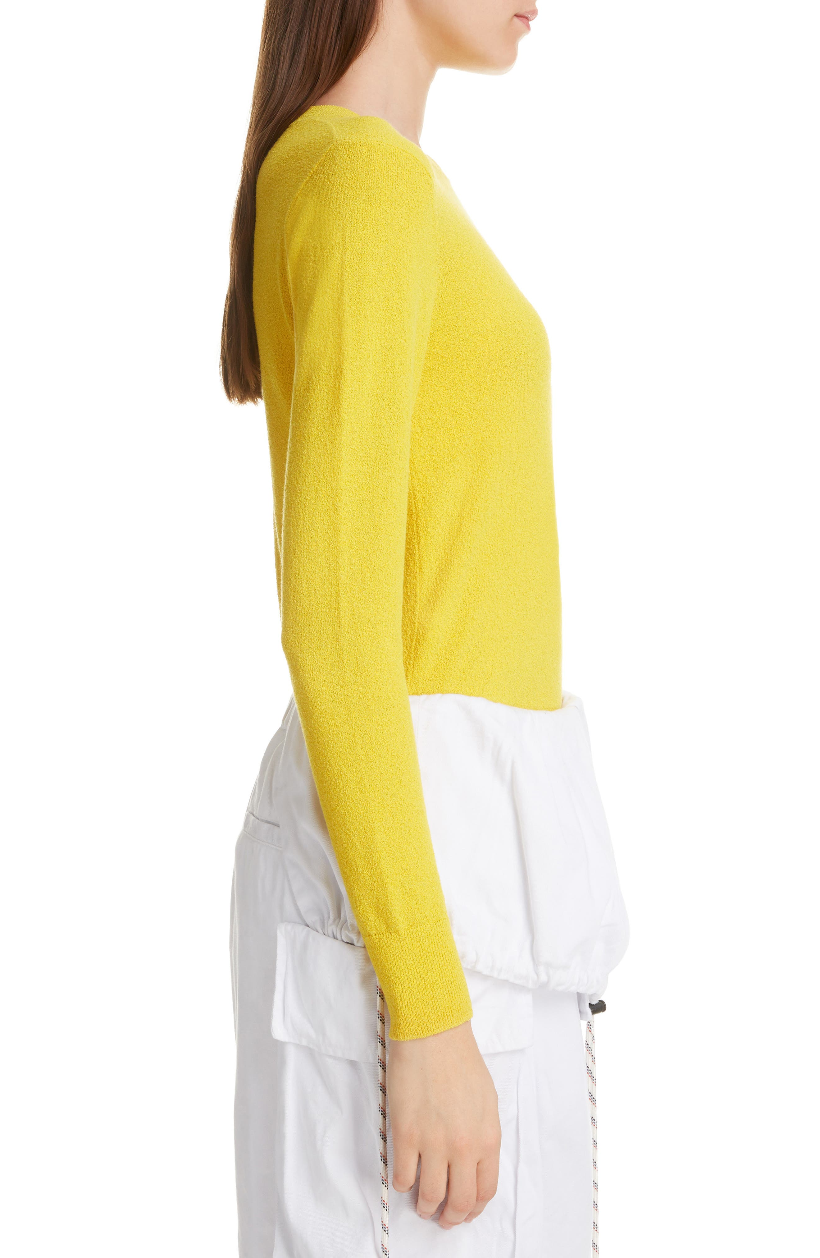 DRIES VAN NOTEN, Nadine Sweater, Alternate thumbnail 3, color, YELLOW