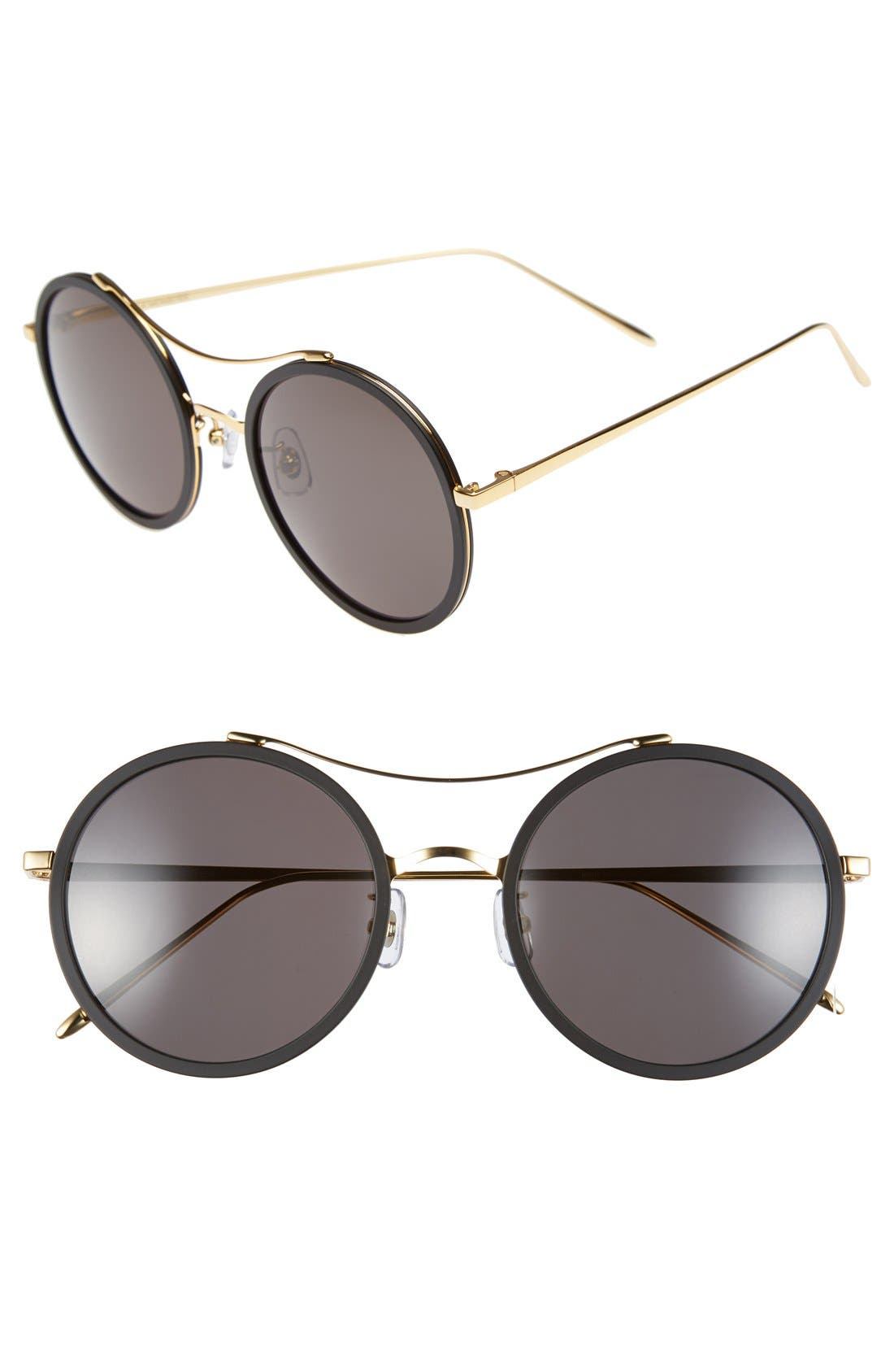 GENTLE MONSTER 52mm Round Sunglasses, Main, color, 001
