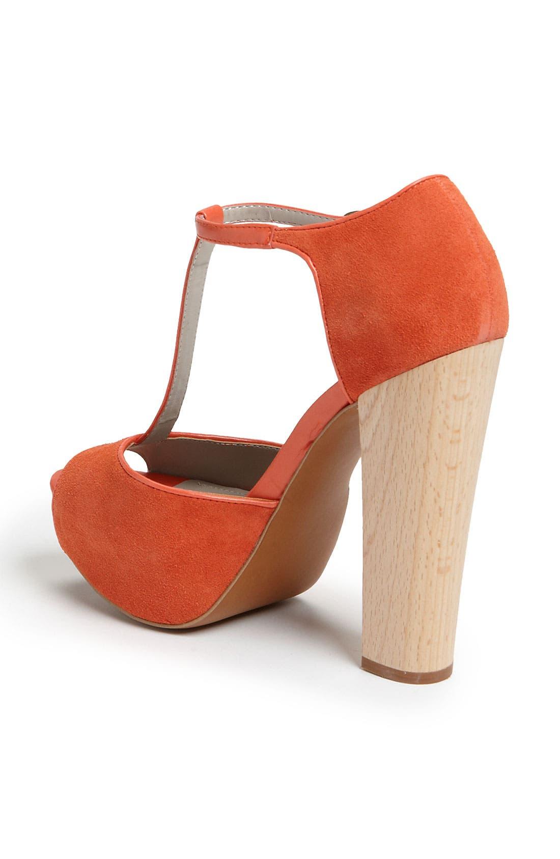 HINGE,  'Asher' T-Strap Sandal, Alternate thumbnail 4, color, 840