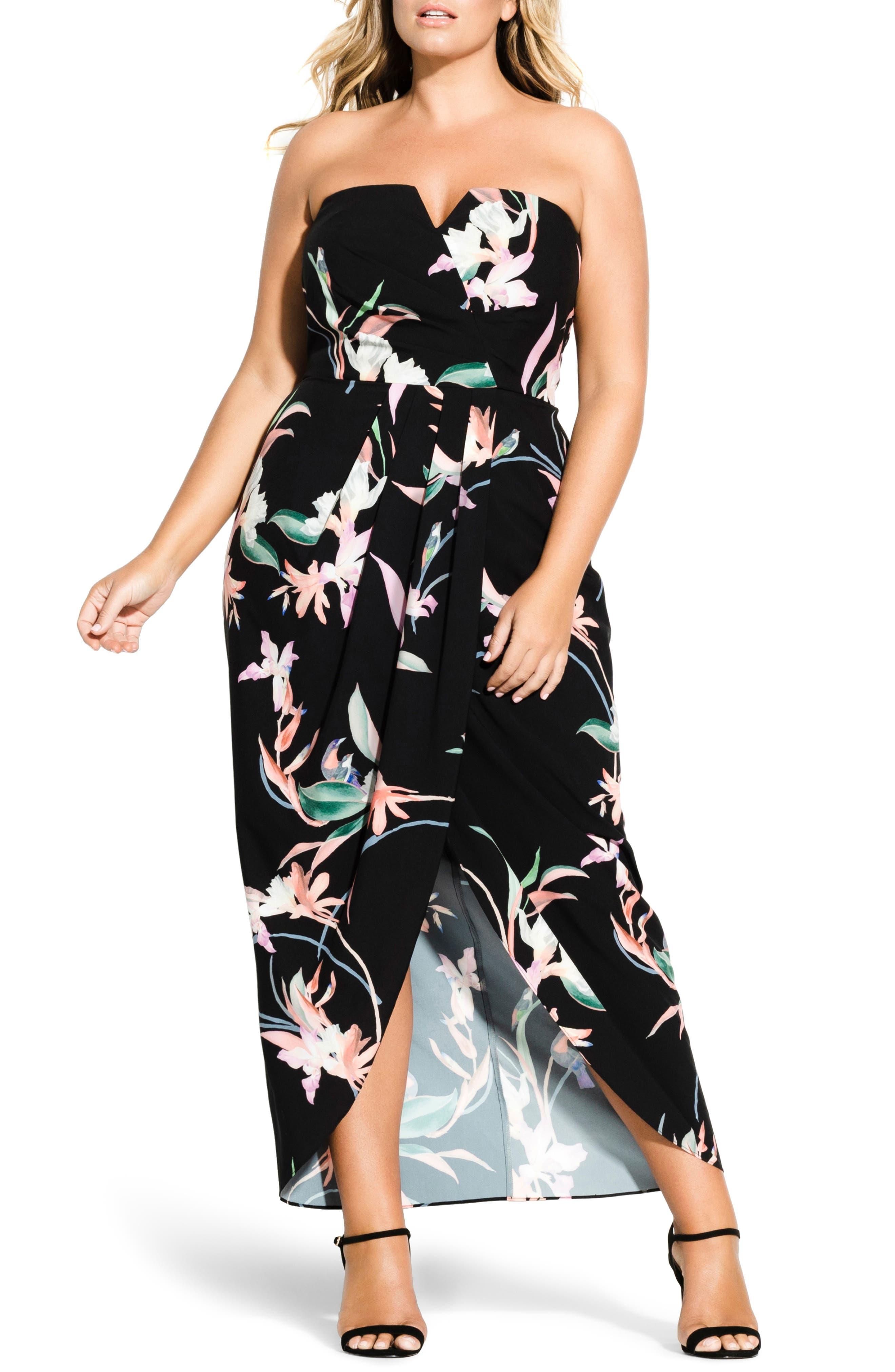 Plus Size City Chic Lovebirds Maxi Dress