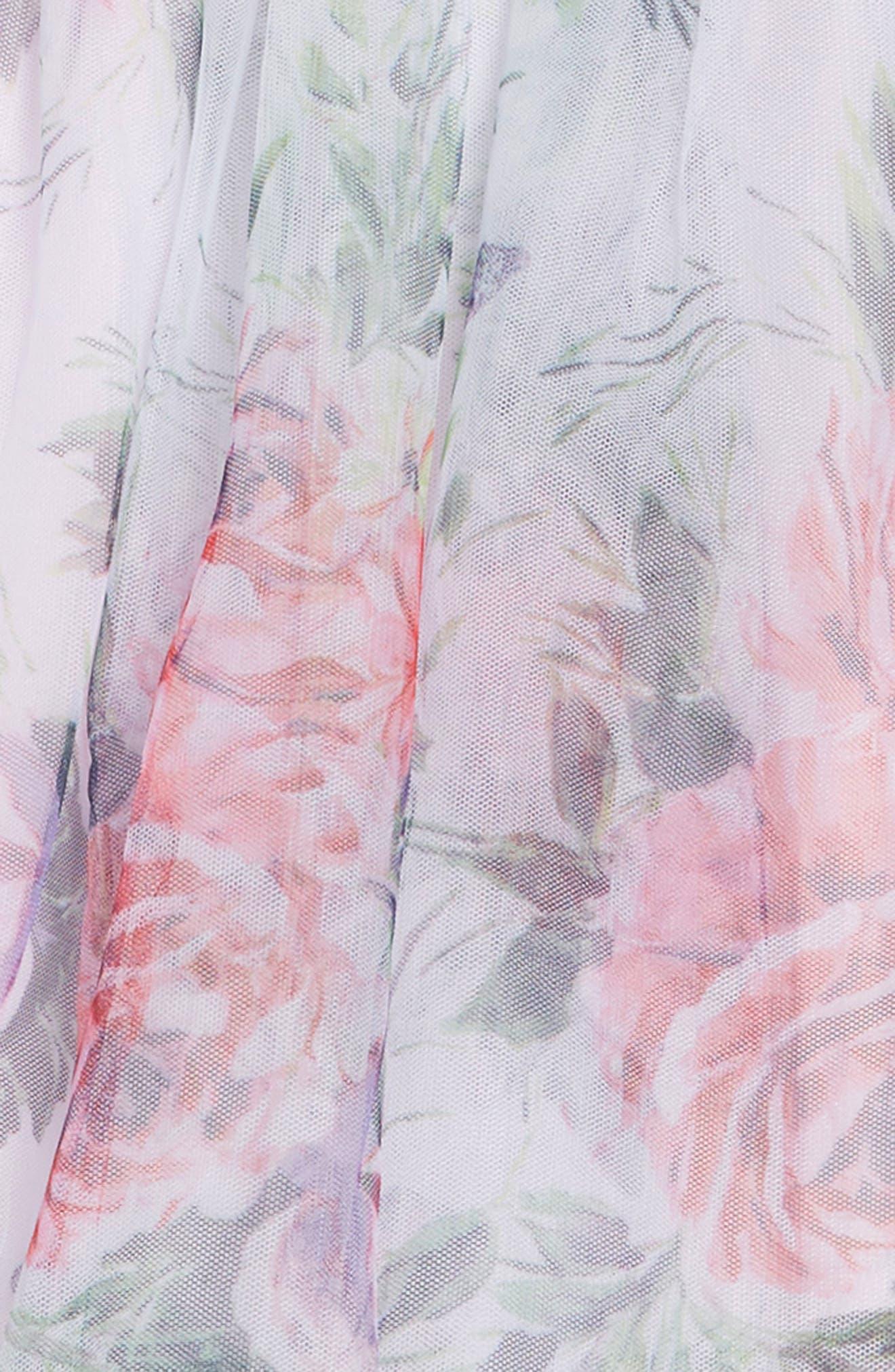 ZUNIE, Floral Print Dress, Alternate thumbnail 3, color, LAVENDER FLORAL