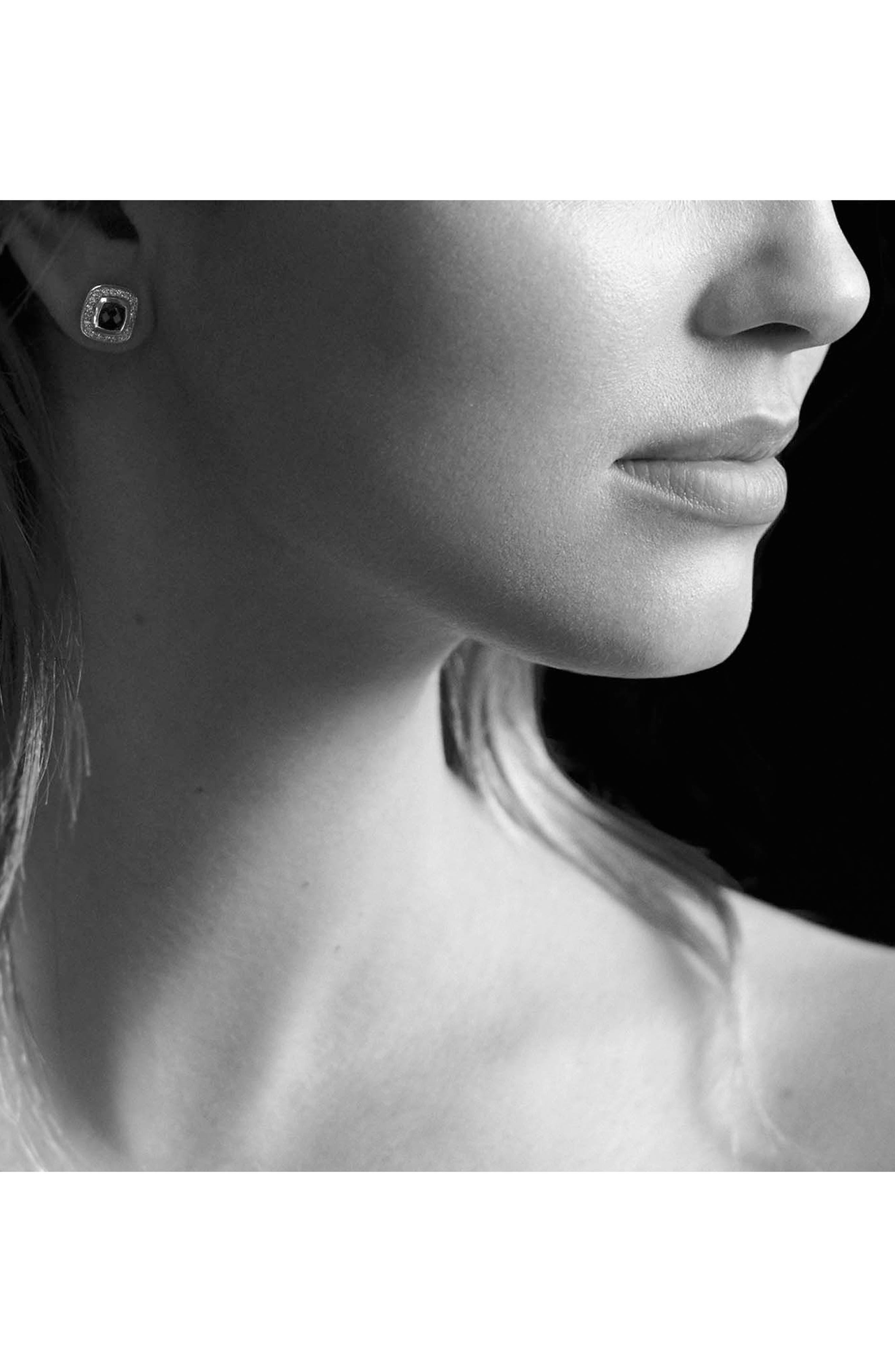 DAVID YURMAN, 'Albion' Petite Earrings with Diamonds, Alternate thumbnail 2, color, BLACK ONYX