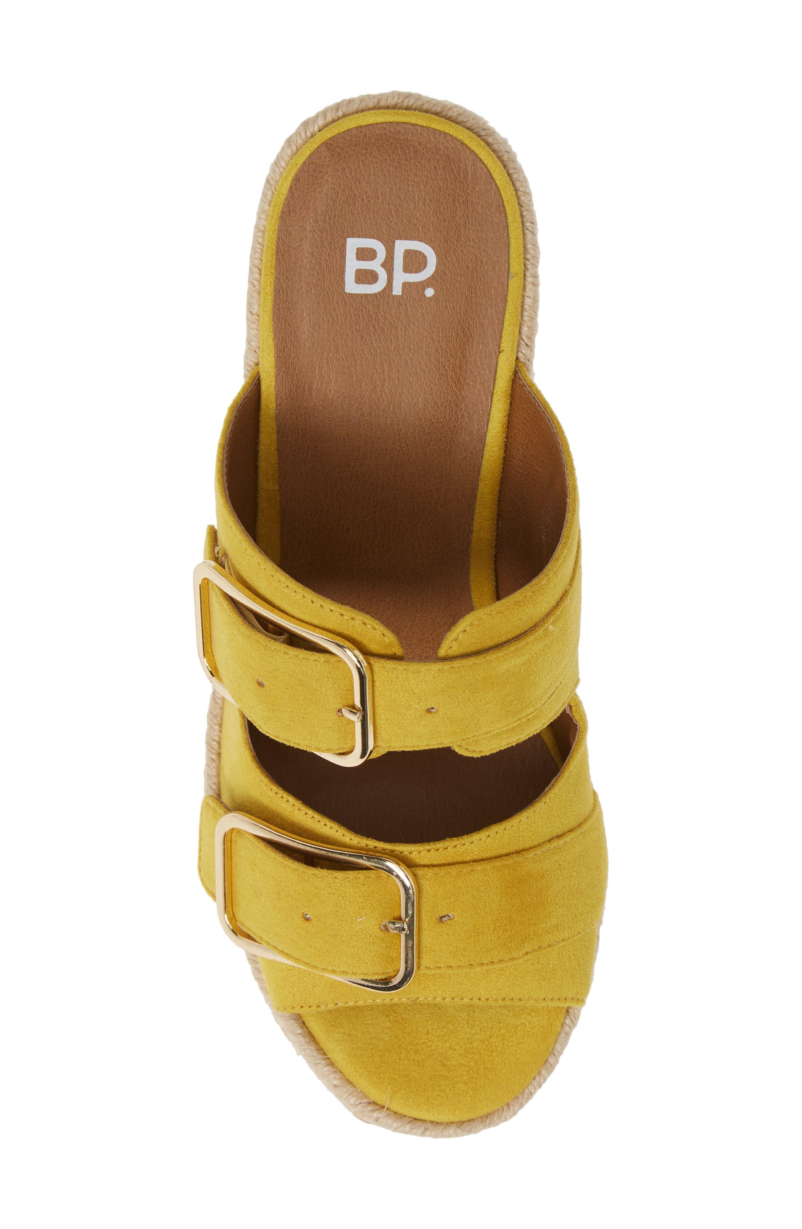 BP., Dani Espadrille Wedge Sandal, Alternate thumbnail 5, color, YELLOW FAUX SUEDE